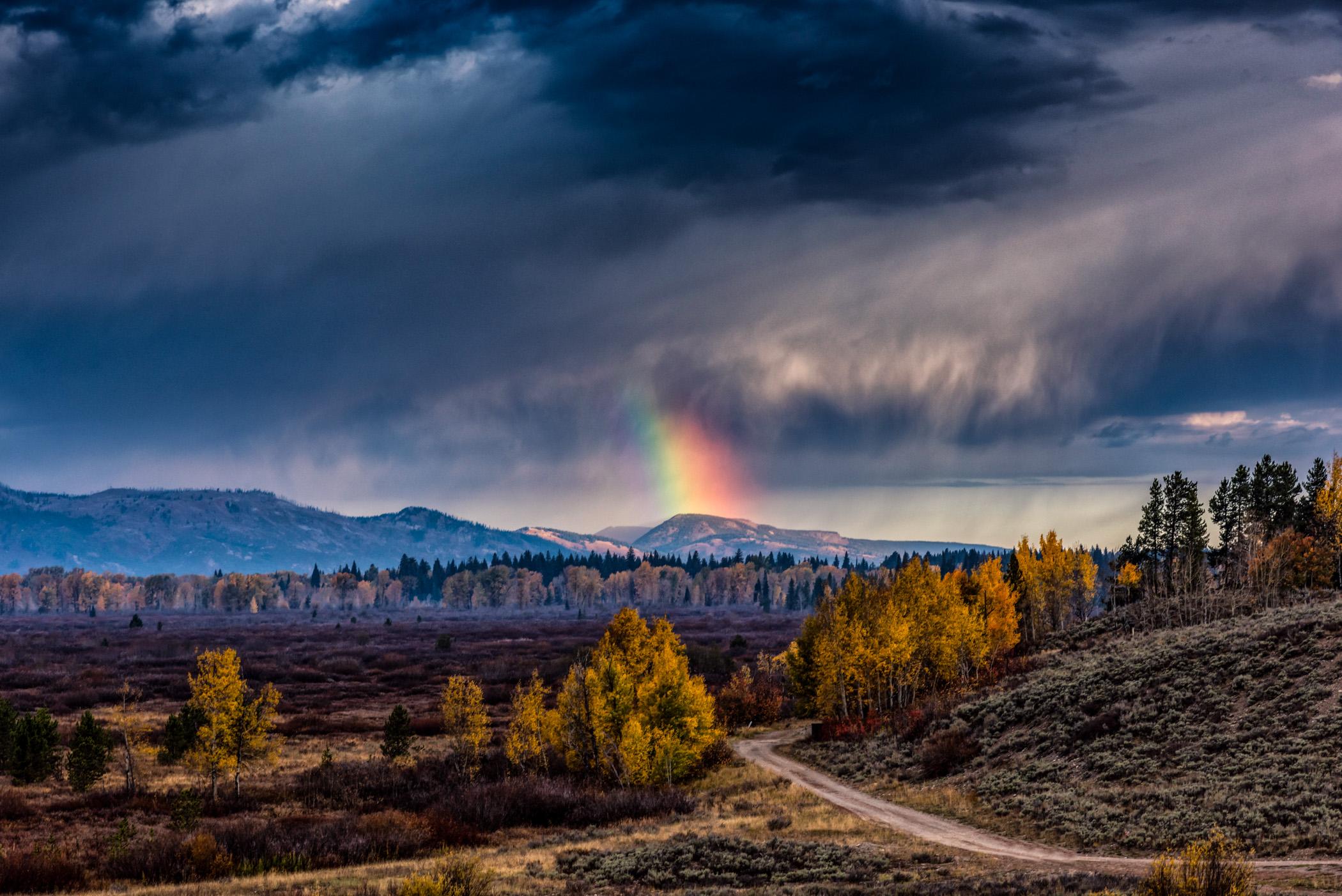Rainbow at the Tetons