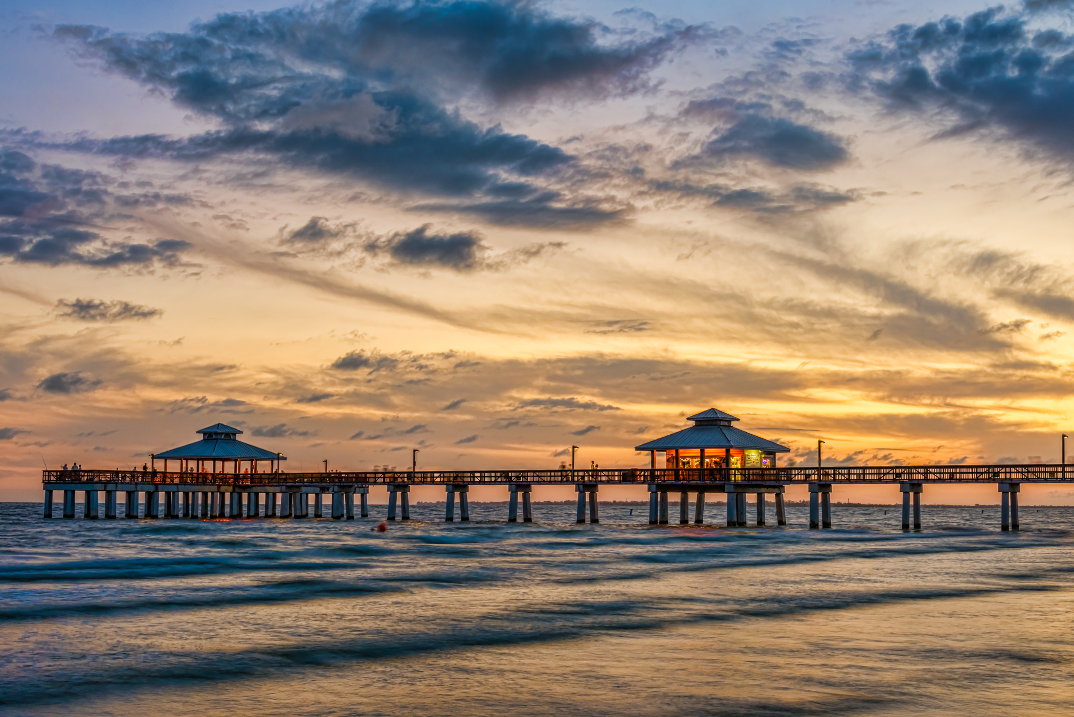 Fort Myers Beach Pier Closeup