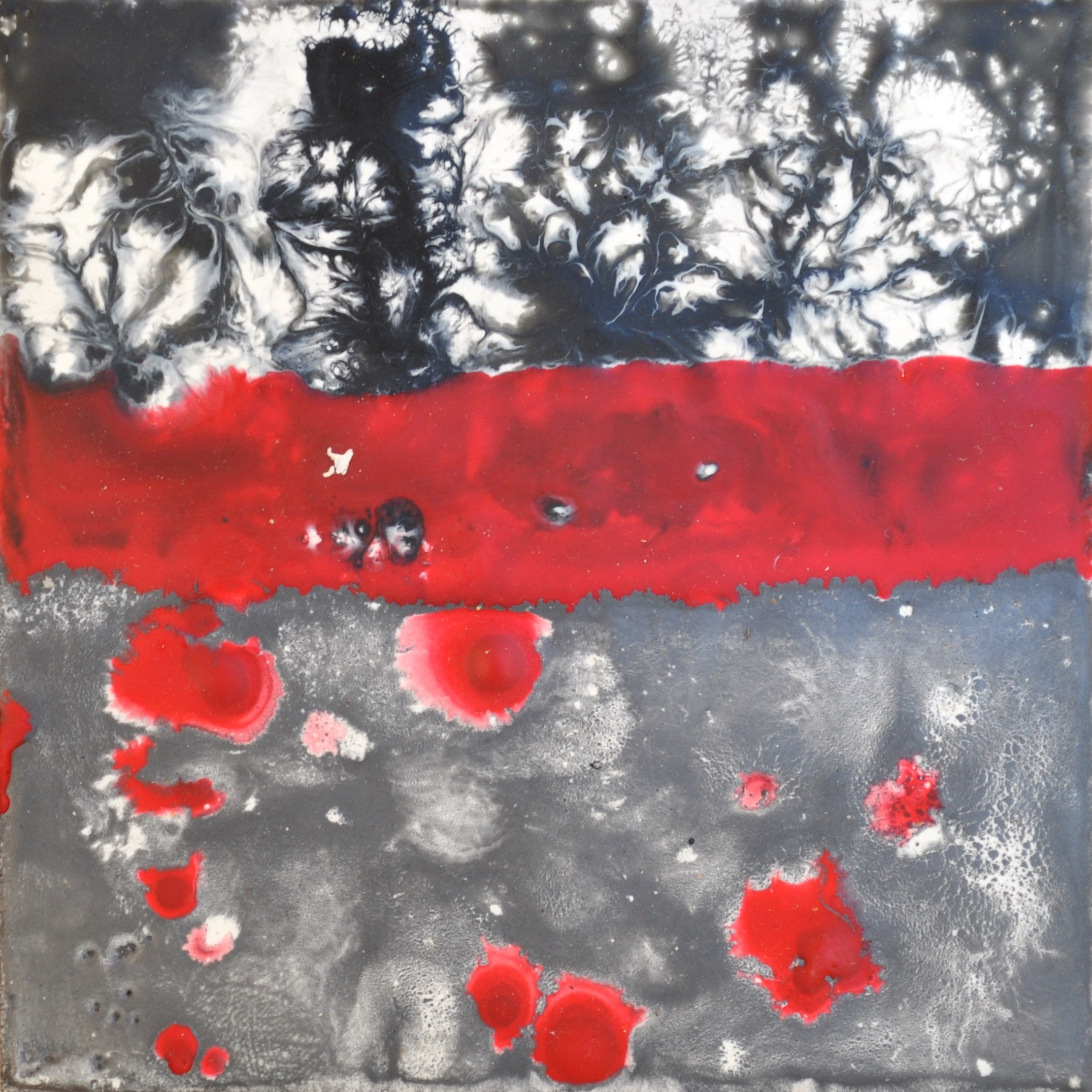 """forty-five make one, detail encaustic, mixed media, 4x4"""""""