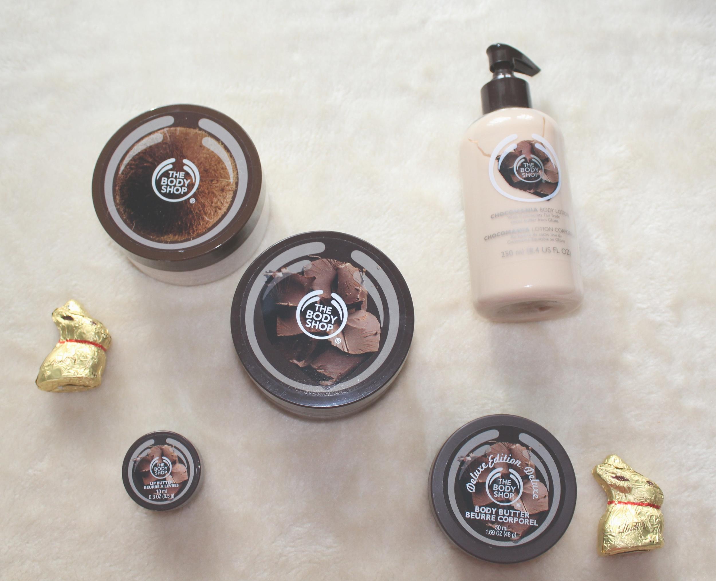 The Body Shop  Chocomania range