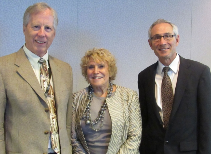 Bruce Cuthbert, Acting DIrector NIMH, valerie porr, tom insel, director nimh at alliance for research meeting, sept 16, 2015, bethseda, md.