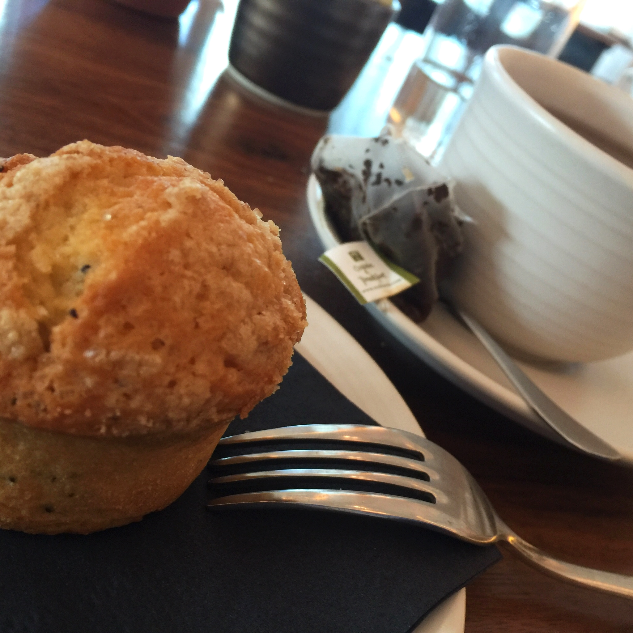 muffin de limão e sementes de papoila