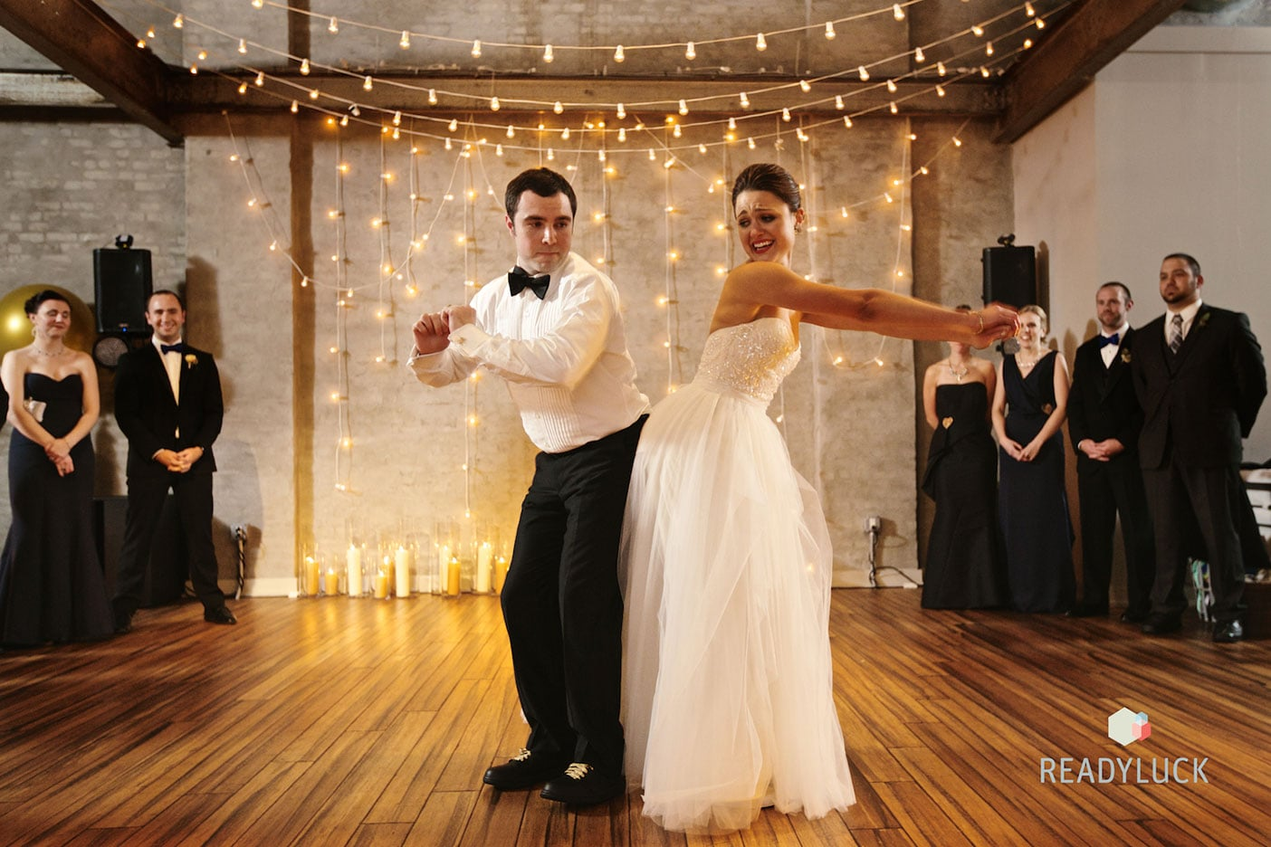 Industrial warehouse wedding in Fishtown Philadelphia at Front & Palmer | Wedding planner & wedding design: Heart & Dash | Photo: Readyluck | Flowers: Vault + Vine