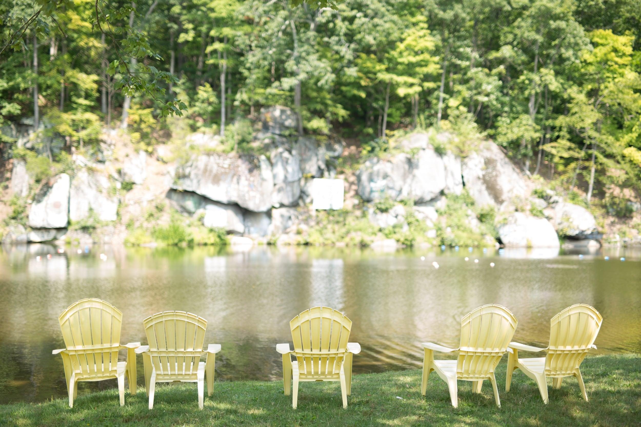 Lake Wedding at Camp Green Lane in Pennsylvania :: Heart & Dash :: Jessica Osber Photography