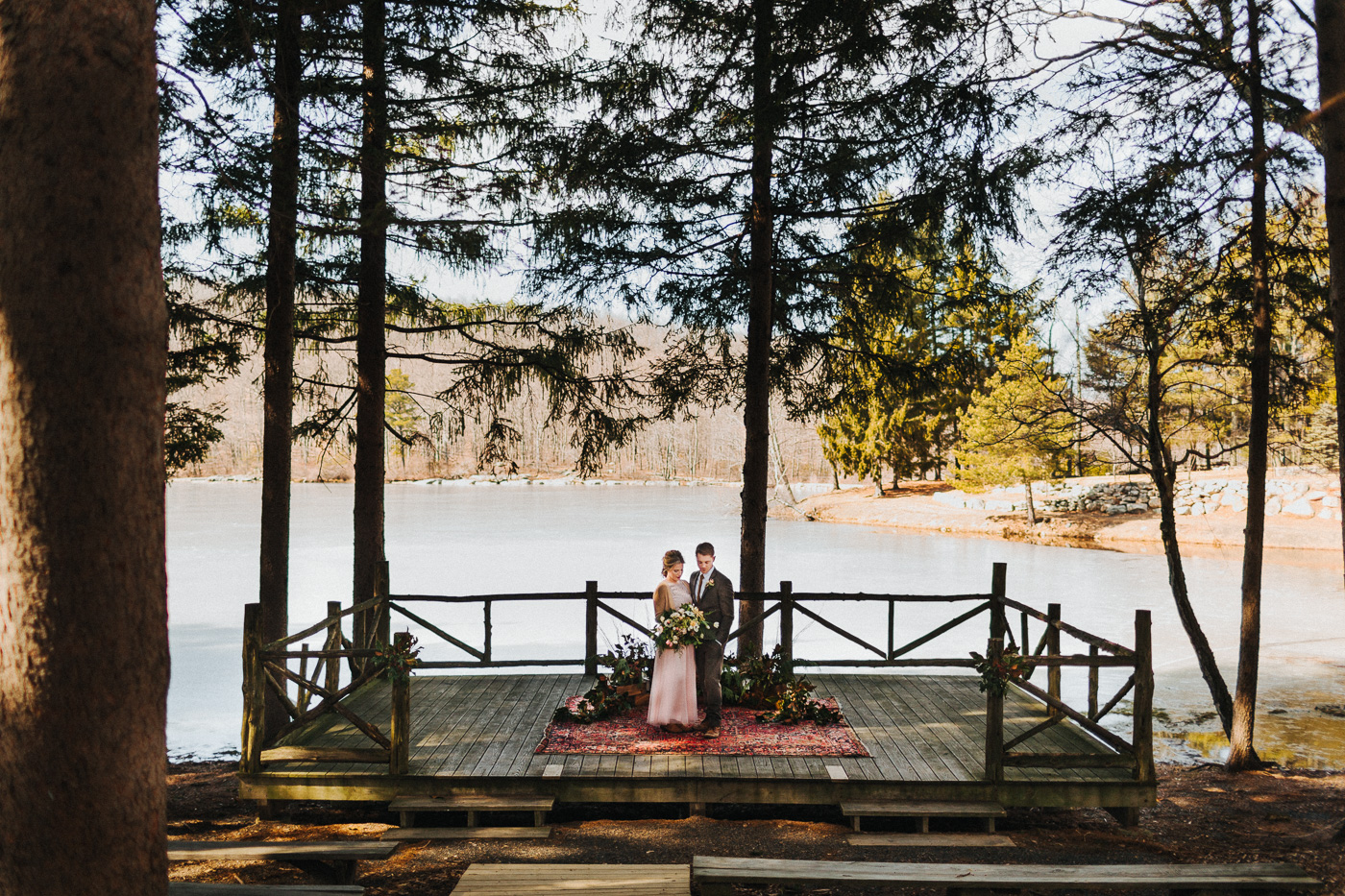 Lakeside Ceremony at Cedar Lakes Estates Wedding :: The More We See Photography :: Heart & Dash Planning