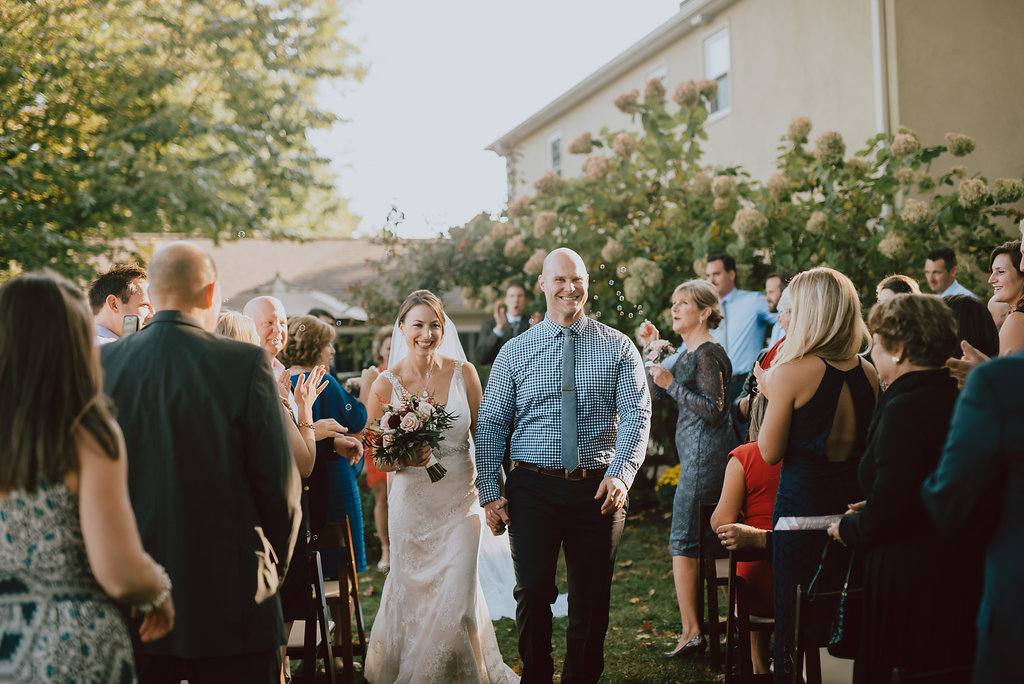 Private home wedding ceremony in West Chester, Pennsylvania :: wedding planner: Heart & Dash :: Pat Robinson Photography