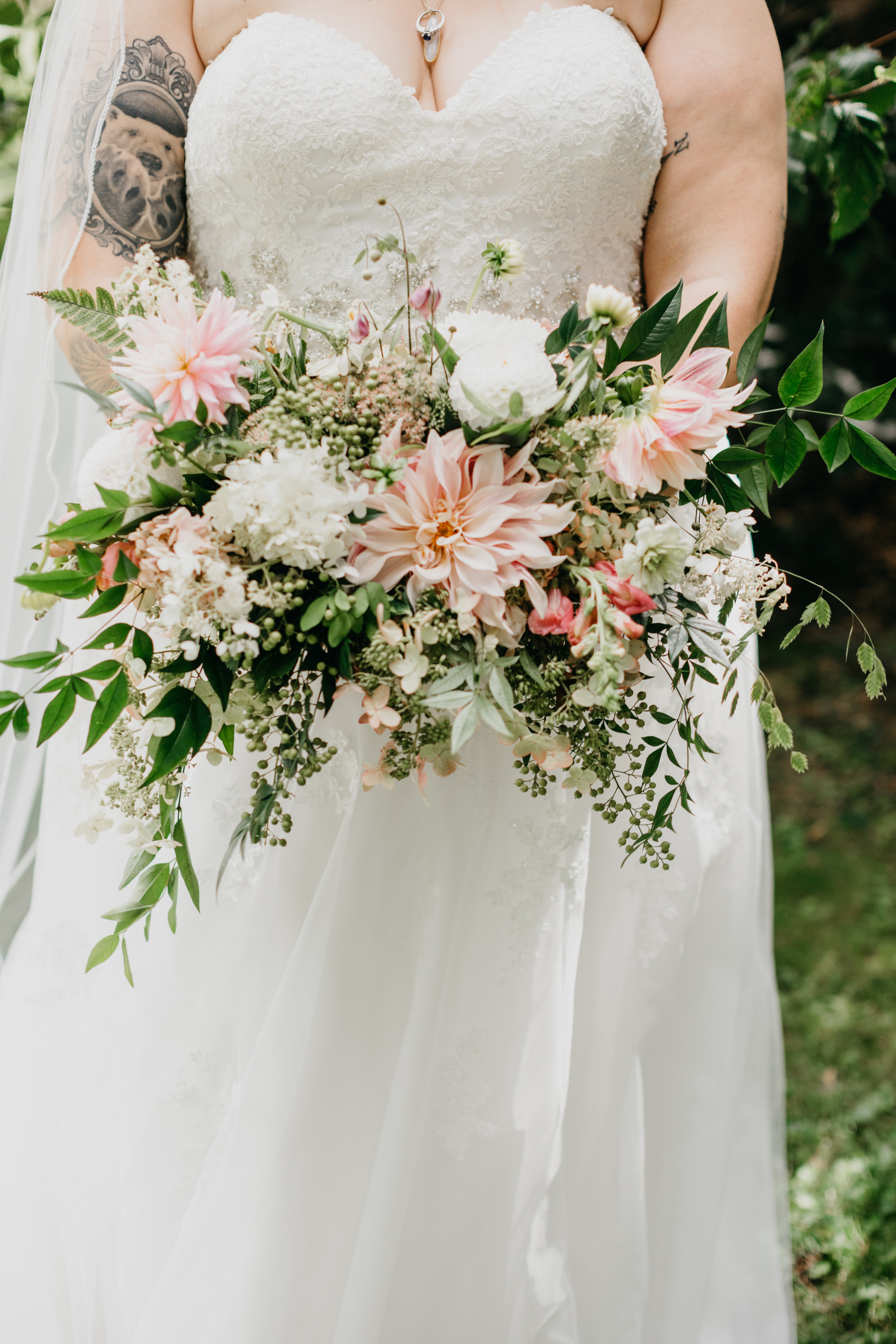 Montgomery county Pennsylvania backyard wedding at bride's family home with Heart & Dash wedding planning