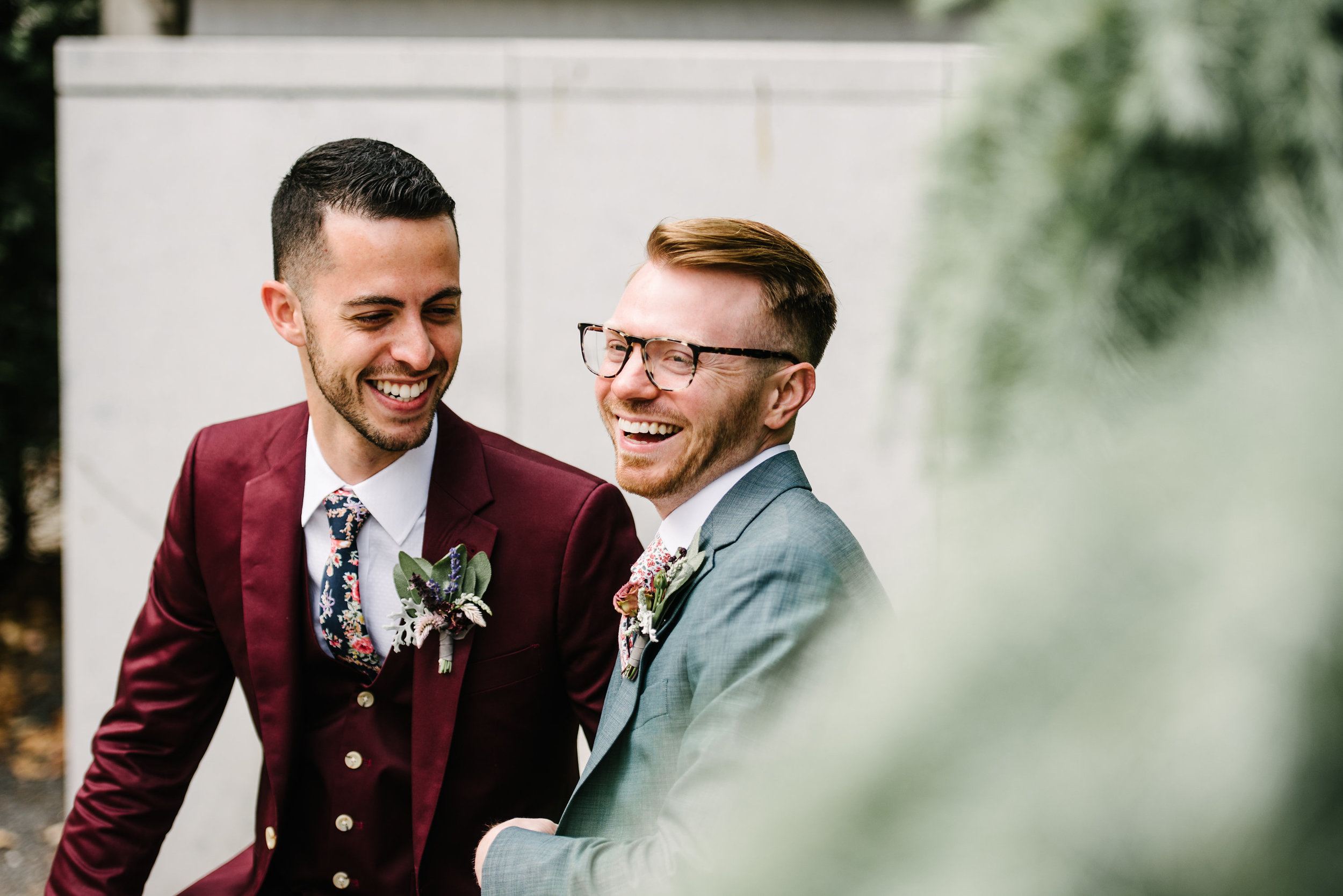 Groom style with Indochino suits for a Philadelphia wedding with wedding planner Heart & Dash and photos by AGP Collective