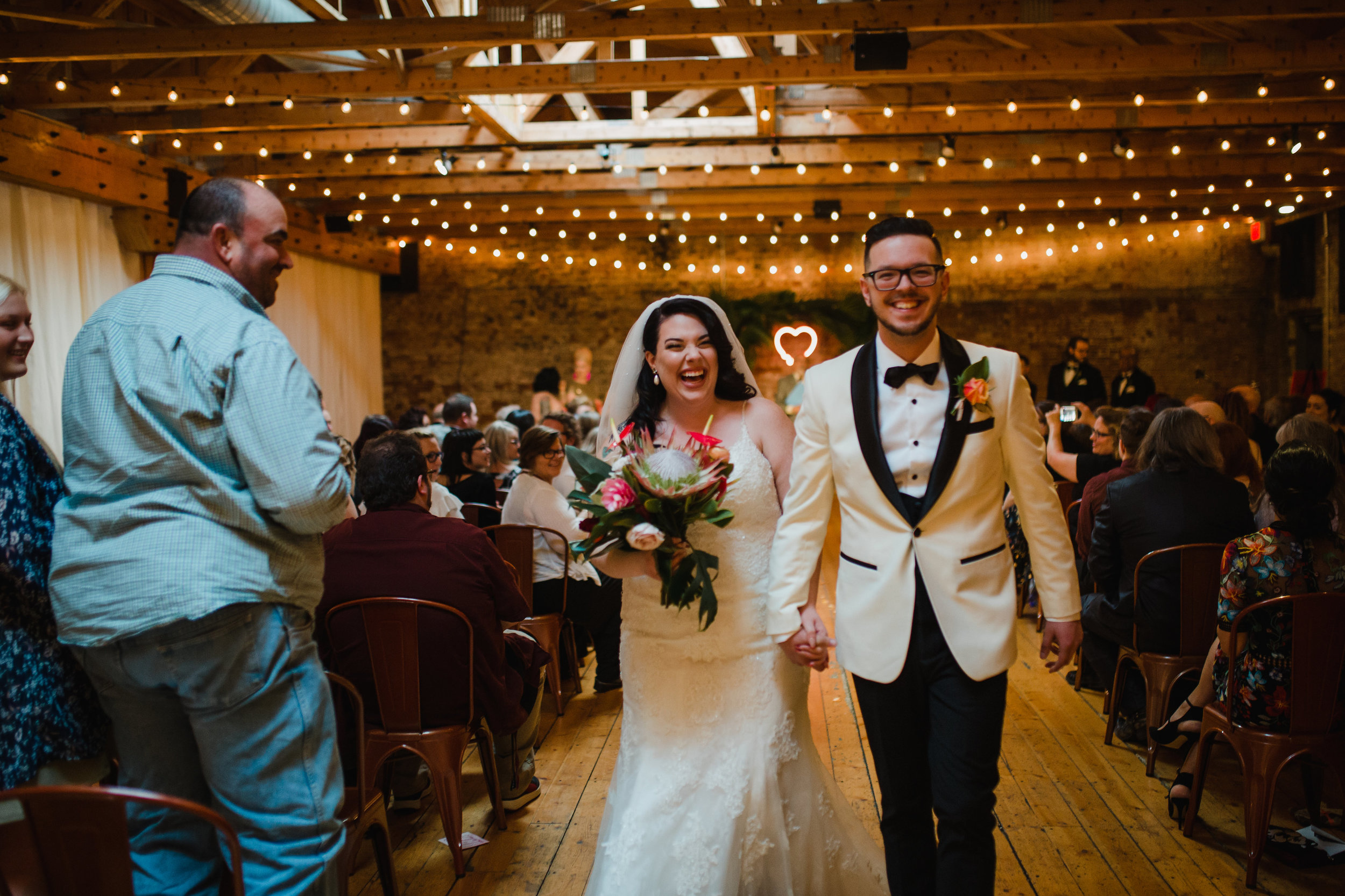 Photo:  Eleven11 Photography , Florals: Katie's Blooms, Venue: Rhinegeist Brewery