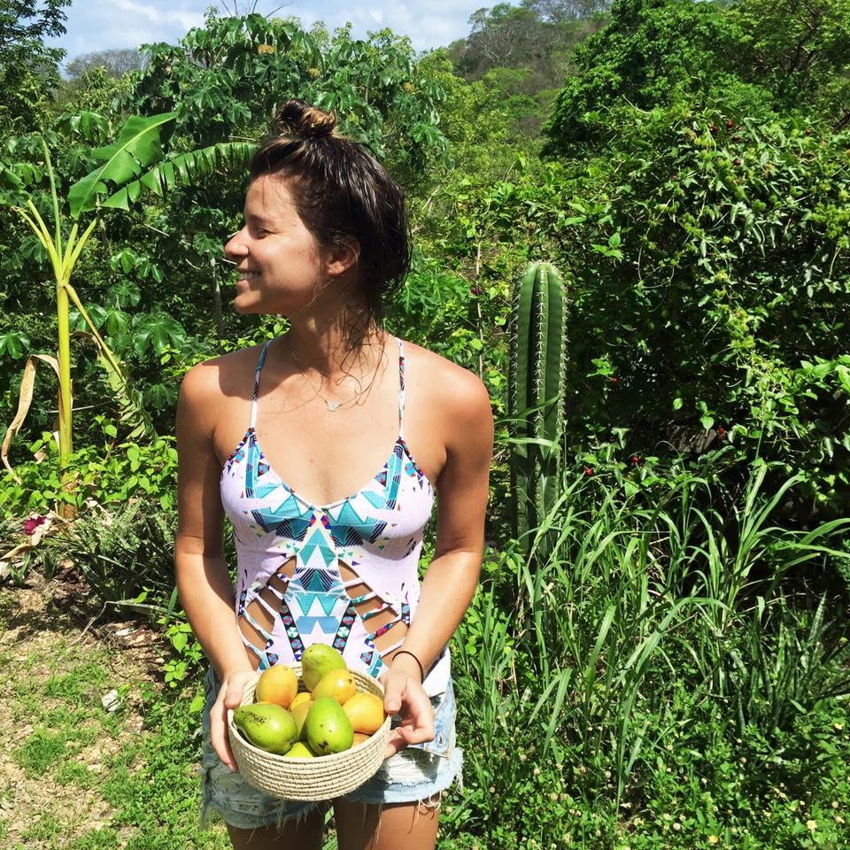 eating all of the local mangoes.