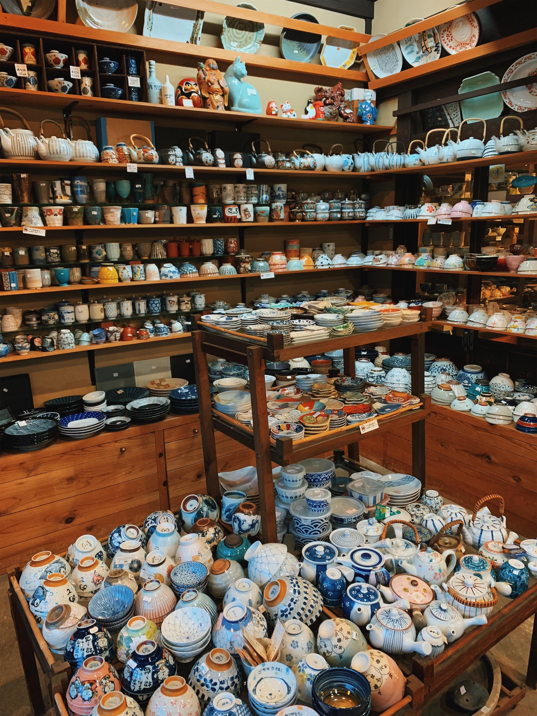 Allll the ceramics in Kyoto