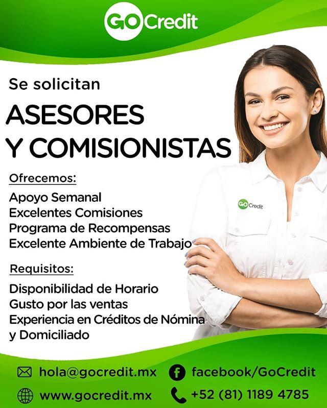 Estamos en busca de asesores financieros, pasa la voz!!!🏃💰💴 #GoCredit #vacontigo