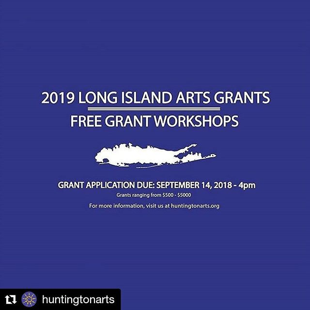 #Regram @huntingtonarts ・・・ #HAC presents 2019 Long Island Grants for the Arts Mandatory Free Workshops at 6pm tonight at the Smithtown Library and 2pm on 6/7 at the East Meadow Library. Attendance at these workshops is required prior to applying for a Decentralization Grant. For more information and to register, visit the link in bio. Additional workshop dates: 6/12, 6/18, 6/19, 6/21, and 6/28. . . . #huntingtonarts #NYSCA #grantsforthearts #artgrants #newyorkartists #longislandartists #longislandpainters #longislandphotographers #suffolkcounty #nassaucounty #newyorkstatecouncilonthearts #nyartgrants #musicians #performers #communityart #artisticcommunities #nonprofits #nygrants
