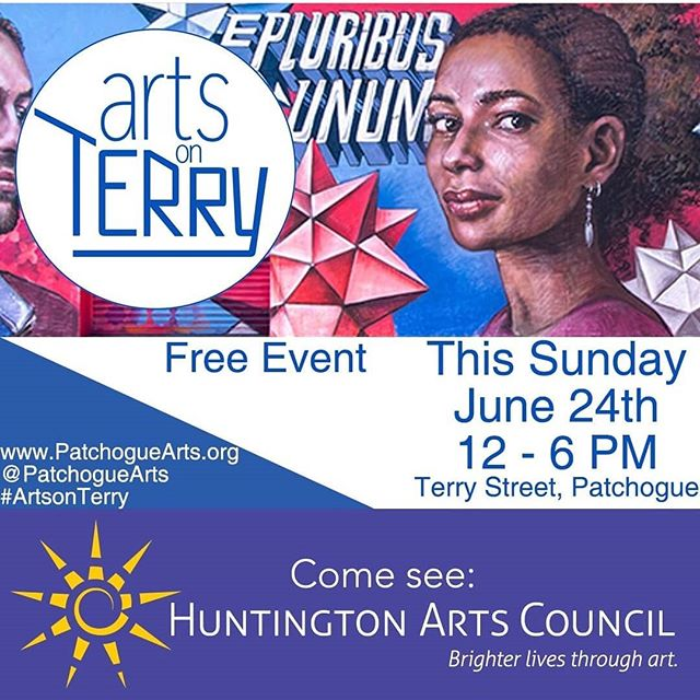 Great time at the launch party at @patchoguearts for Arts on Terry. Always great to see @dudley_music perform and see @diegoagc paint. Two great installations up by @jasnaboudard in the gallery and @carolannpaszek in the park. Come see everything this Sunday from 12-6. ... ... #PatchogueArtsCouncil #PatchogueArts #ArtsonTerry #AOT18 #PAC #EPU #EPluribusUnum #artexhibitions #longislandfeatures #exploreliny #longislandart #longislandartists #longislandphotographers #liveart #performance #livemusic