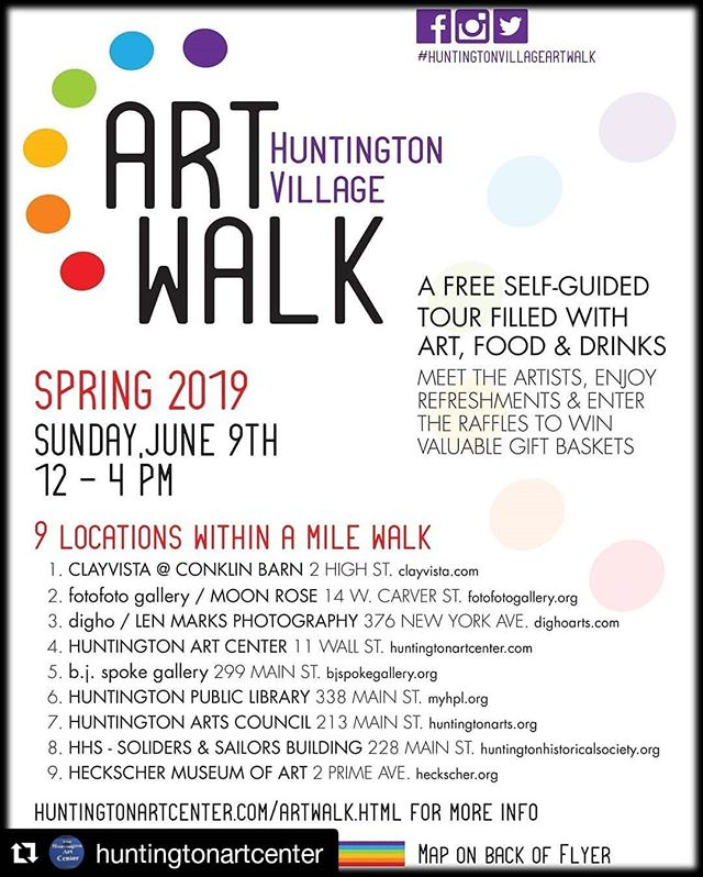 Thank you to @huntingtonartcenter for planning this every year, and particularly for this year as my work will be featured at their shop for the walk. I'll be talking to anyone who will listen from 12-4 tomorrow. ・・・ Don't miss it!  #huntingtonvillageartwalk