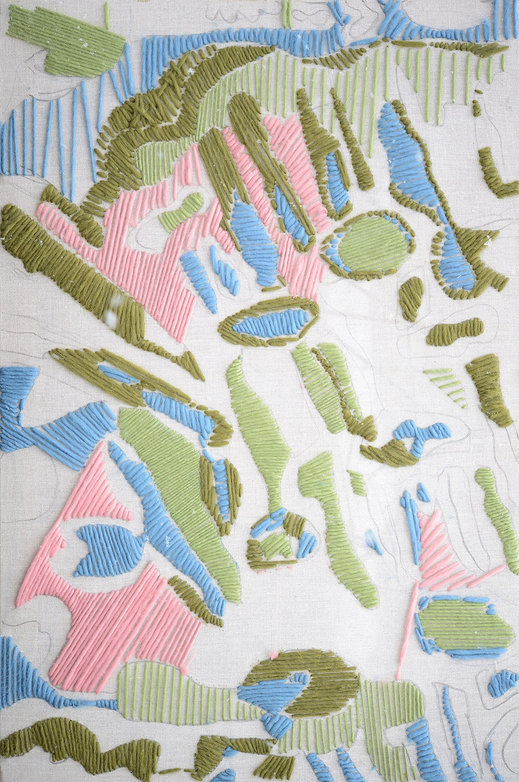 Pattern 1 2016 Wool and Linen 30 by 40 inches