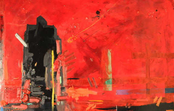 Concrete Architecture Oil, Alkyd, Pigment on Canvas on Panel 31 inches x 46.5 inches.jpg