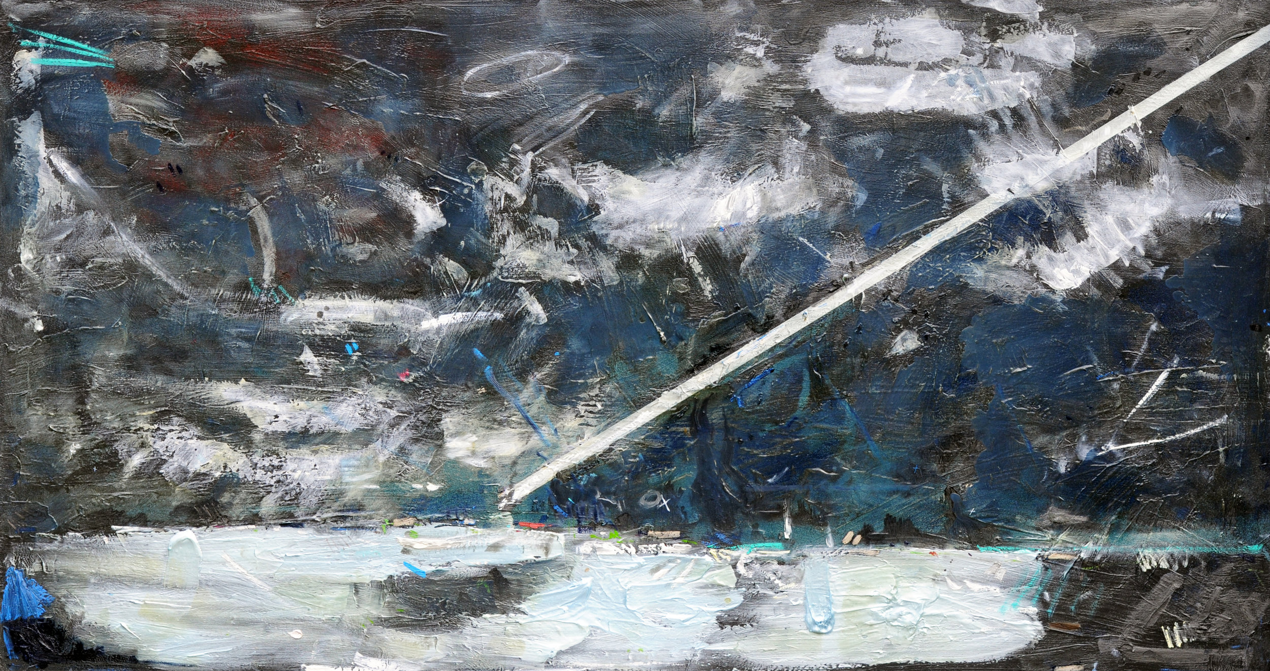 Descent  2008  Oil on Canvas  48 by 90 inches.jpg