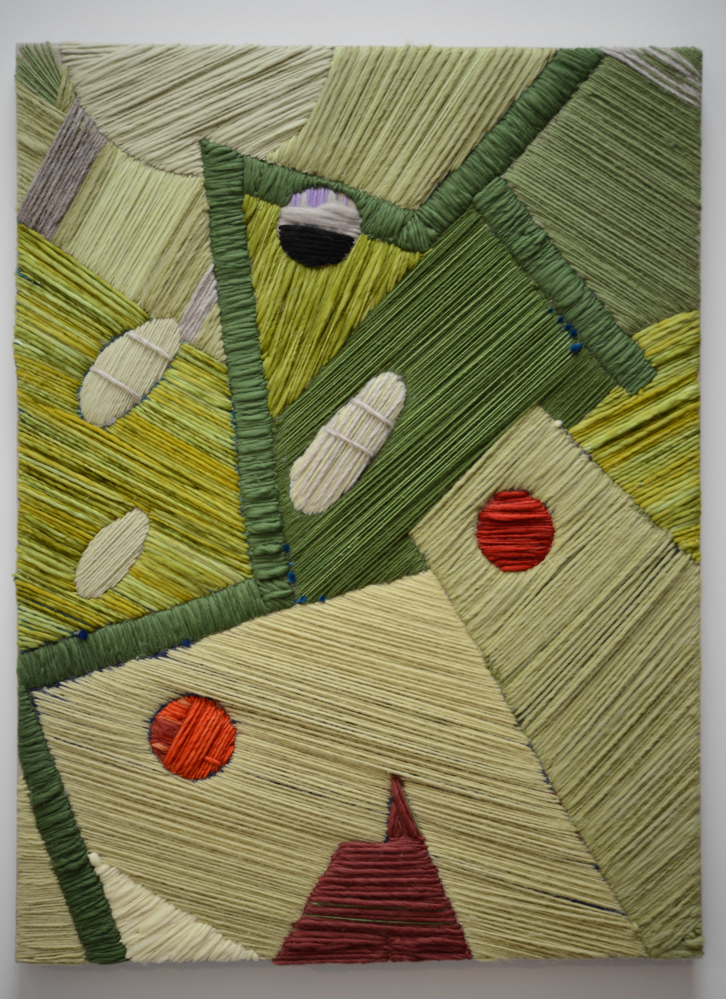 System 2 2017 Wool and Linen 40 x 30 inches Private Collection