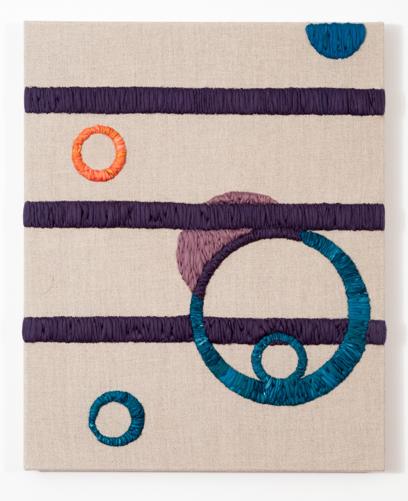 System 12 2017 Wool and Linen 30 x 24 inches Donovan Collection
