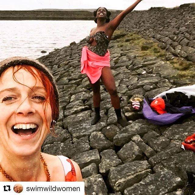 Just returned from the water with the beauty Jamima. So grateful for the journey. Feeling refreshed  Feeling renewed Listening to wild women on radio 4  Talking of new ideas and naming ourselves as we should be It's a wild combination (swimming) Everything feels so possible after the wild waters If anyone ever wants to go - I'll take you there X . . . . . . . . . . . . . . . #thatsus #wildswimming #wildswimminguk #water #cold #burn #nature #naturelovers #wildwomen