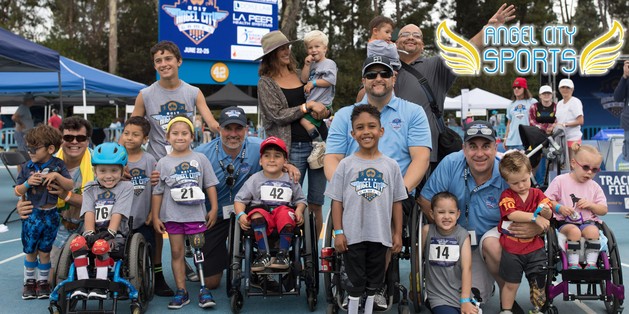 Athletes who participated in the Toddler events at the 2017 Angel City Games at UCLA (Photo Credit:    Tiffany J Photography   )