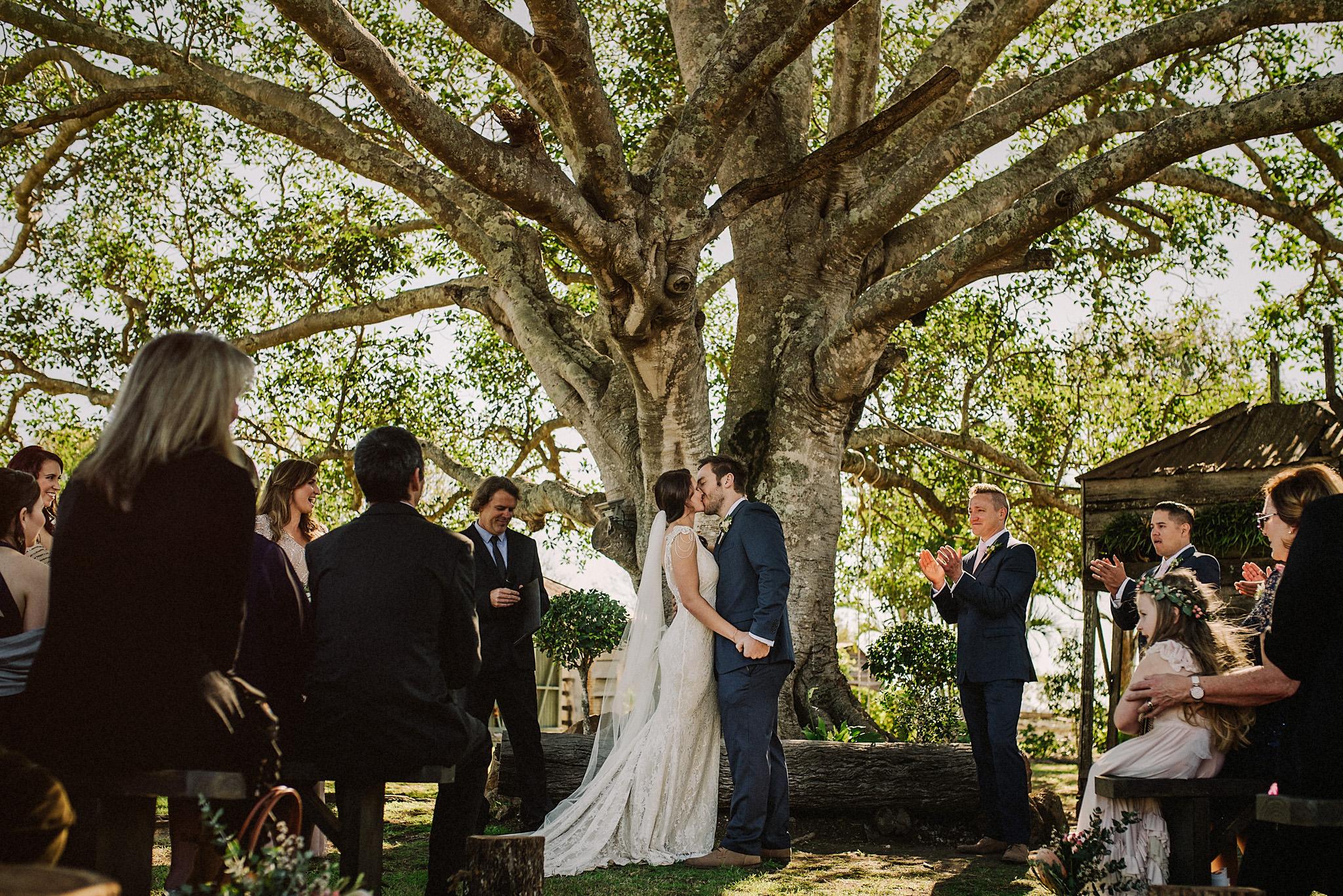 first kiss wedding brisbane