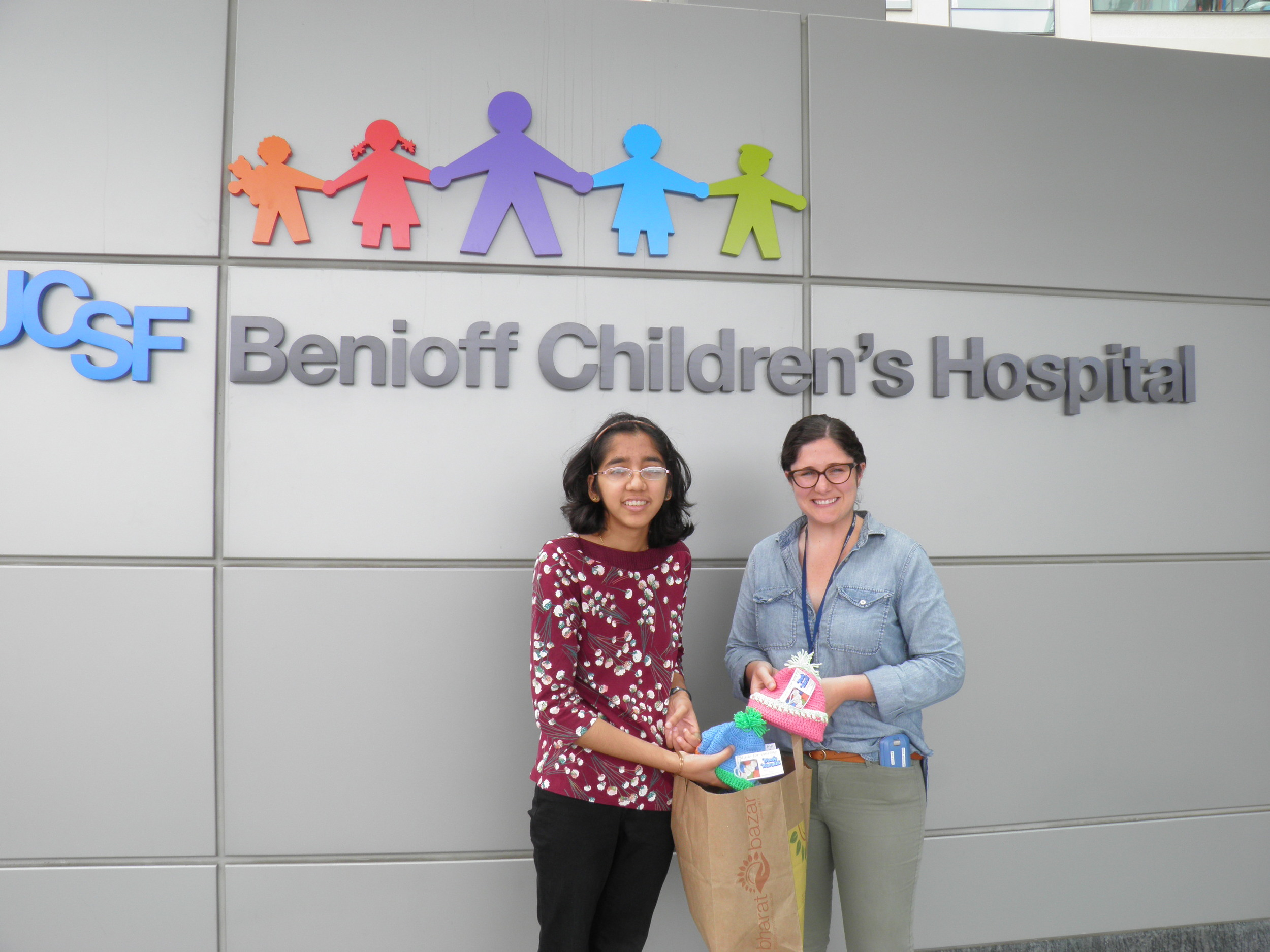 With Ms. Ashely Goliti, Child Life Services, UCSF Benioff Children's Hospital