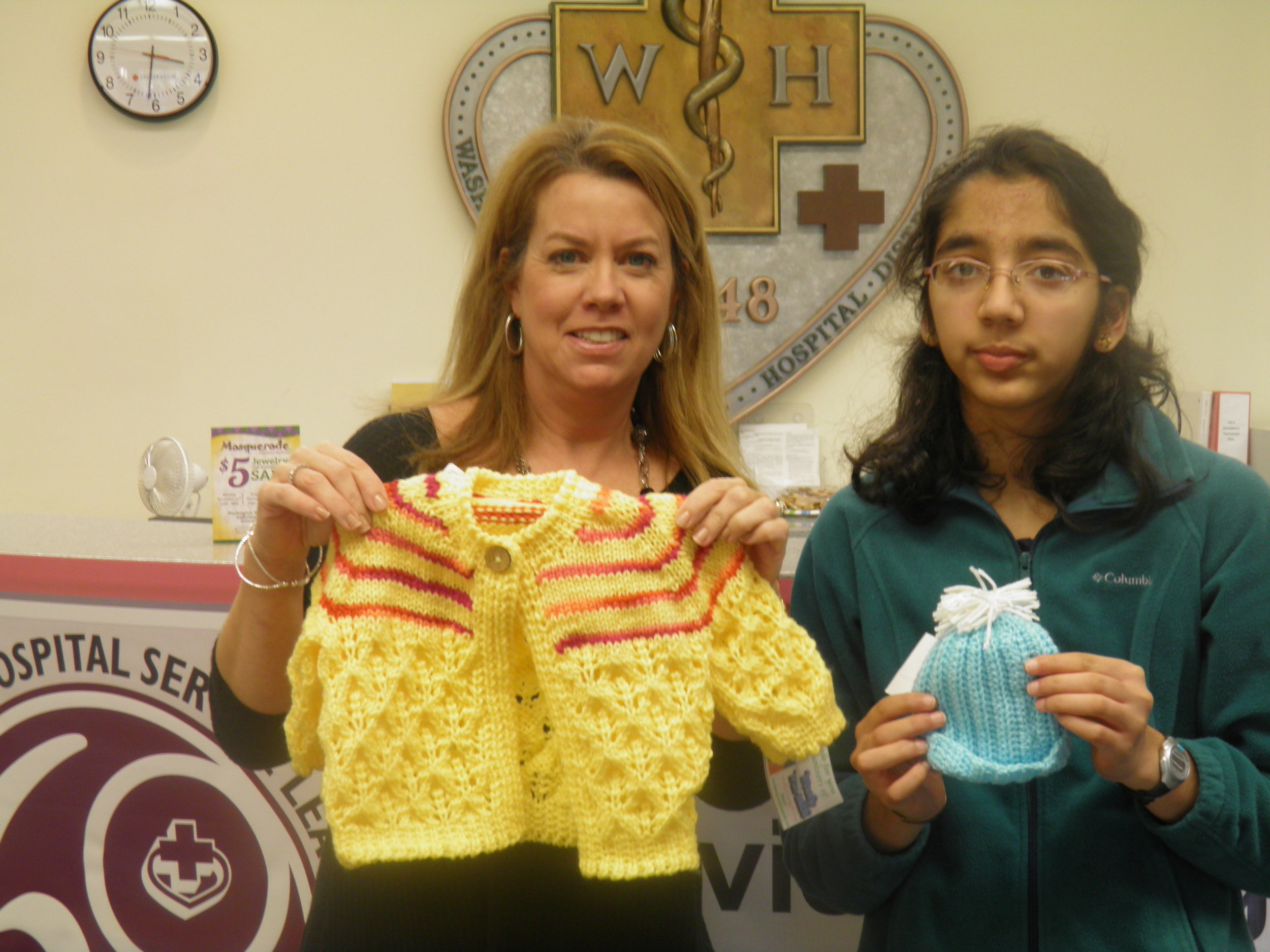 With Ms. Shannon Antepenko, Development Coordinator, Washington Hospital