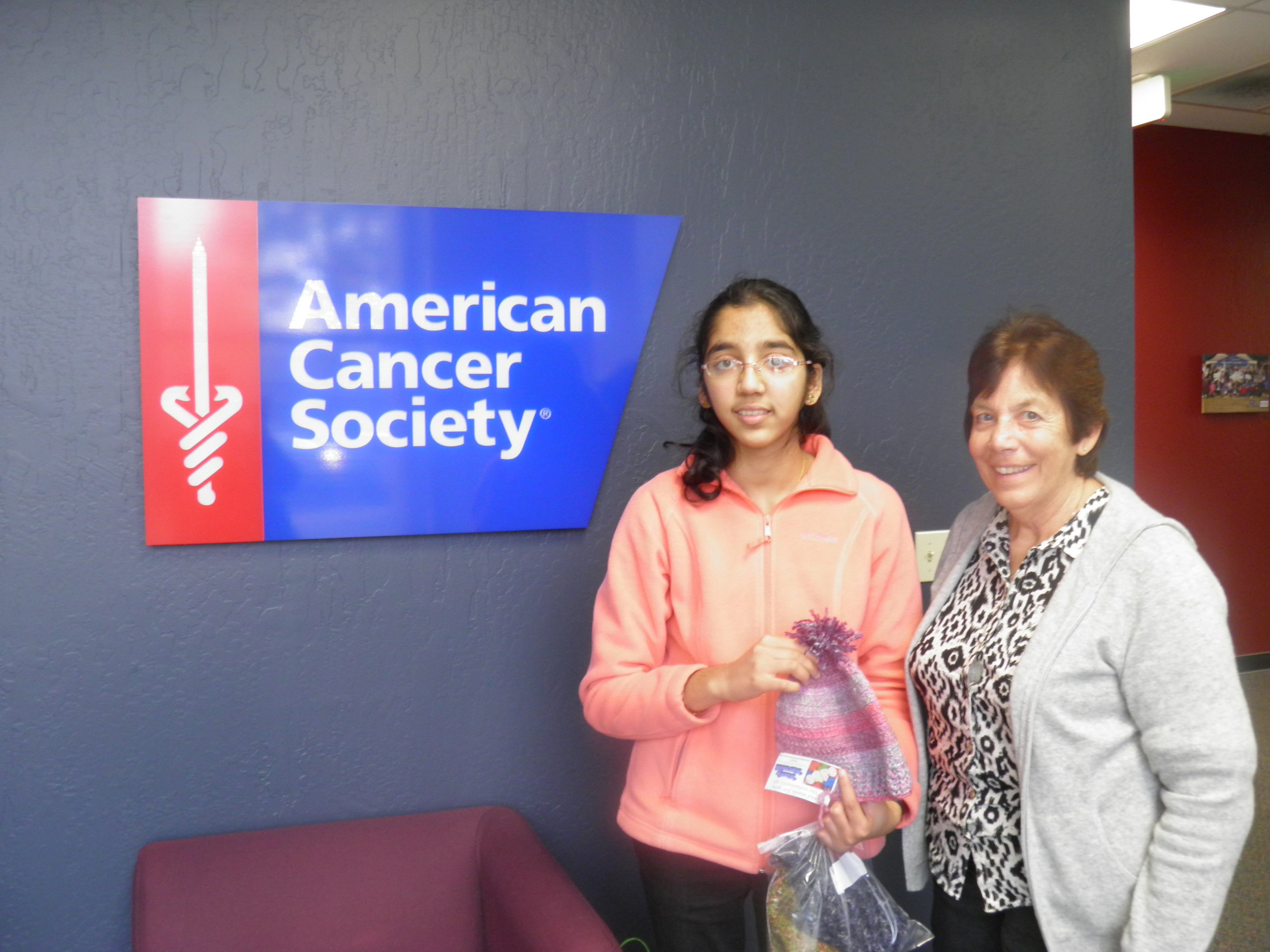 With Ms. Kathy Milano, American Cancer Society