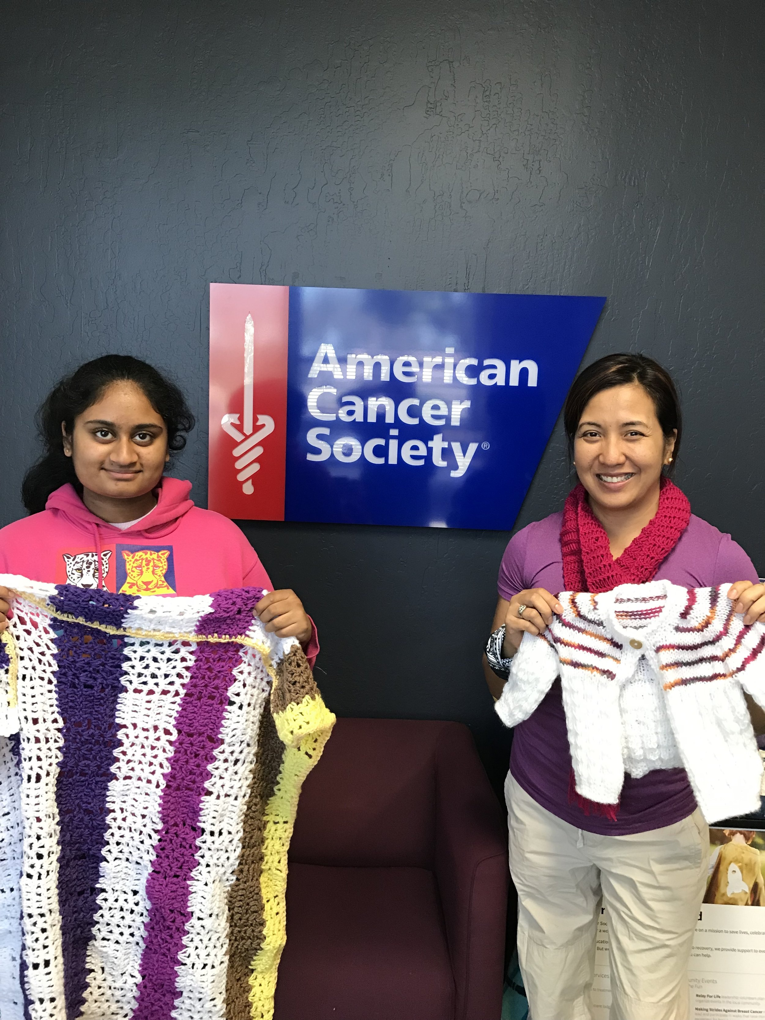 With Ms. April Morton, American Cancer Society