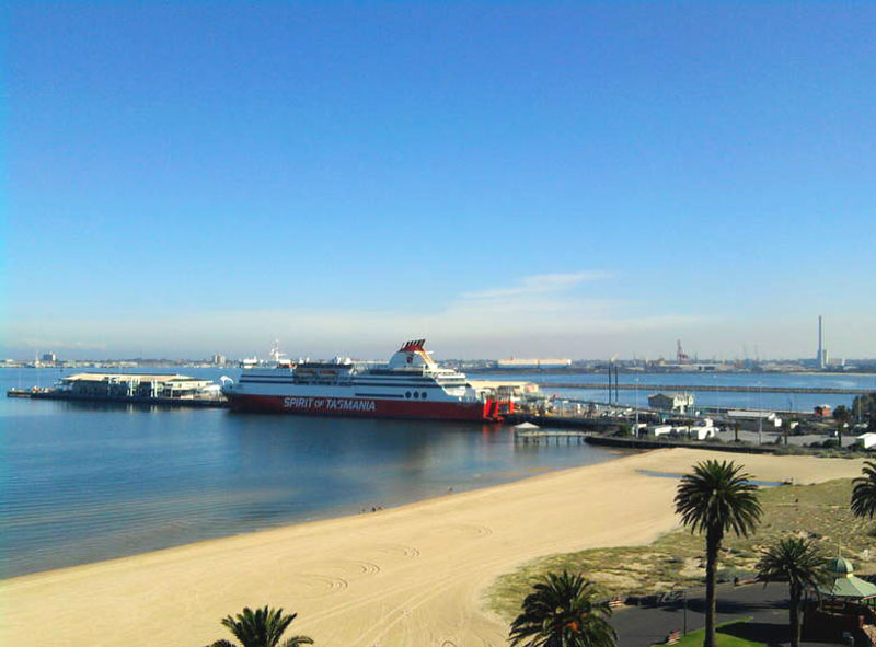 Port Melbourne Pier - home of the Spirit of Tasmania and the base for 80 cruise ships a year