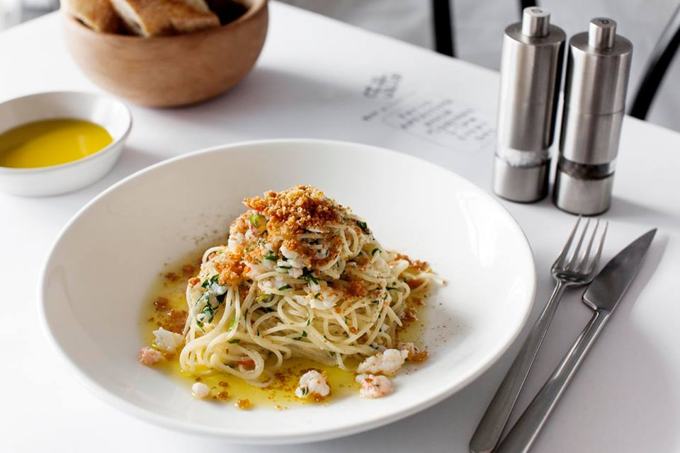 Exciting Italian restaurant Fatto is taking part this year. Thismasterpiece is their crab spaghettini.                        Photoby MFWF