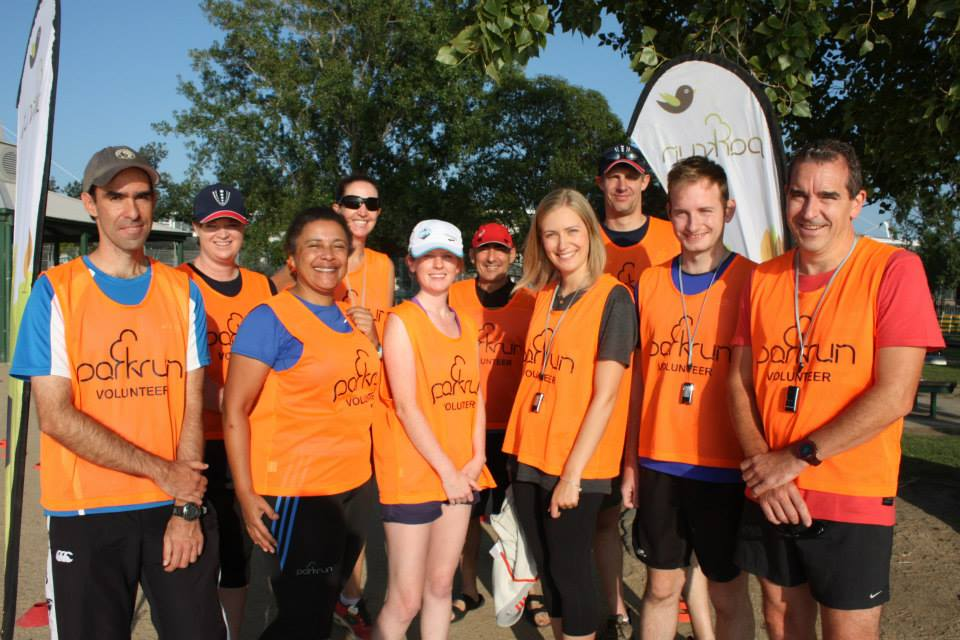These smiling faces will greet you at the finish line and give you a token, which you do need to give back