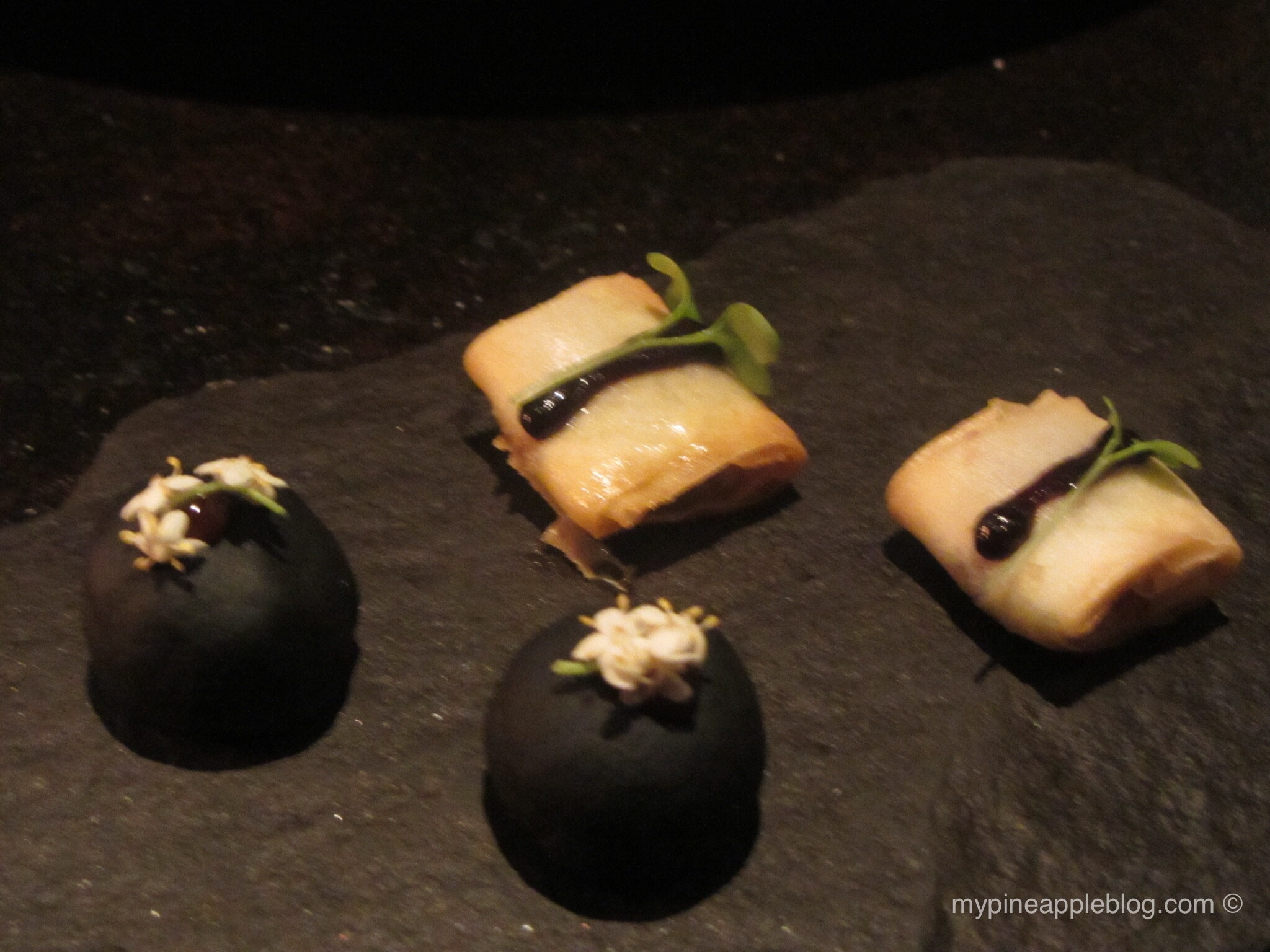 Delectable petit fours at Teatro