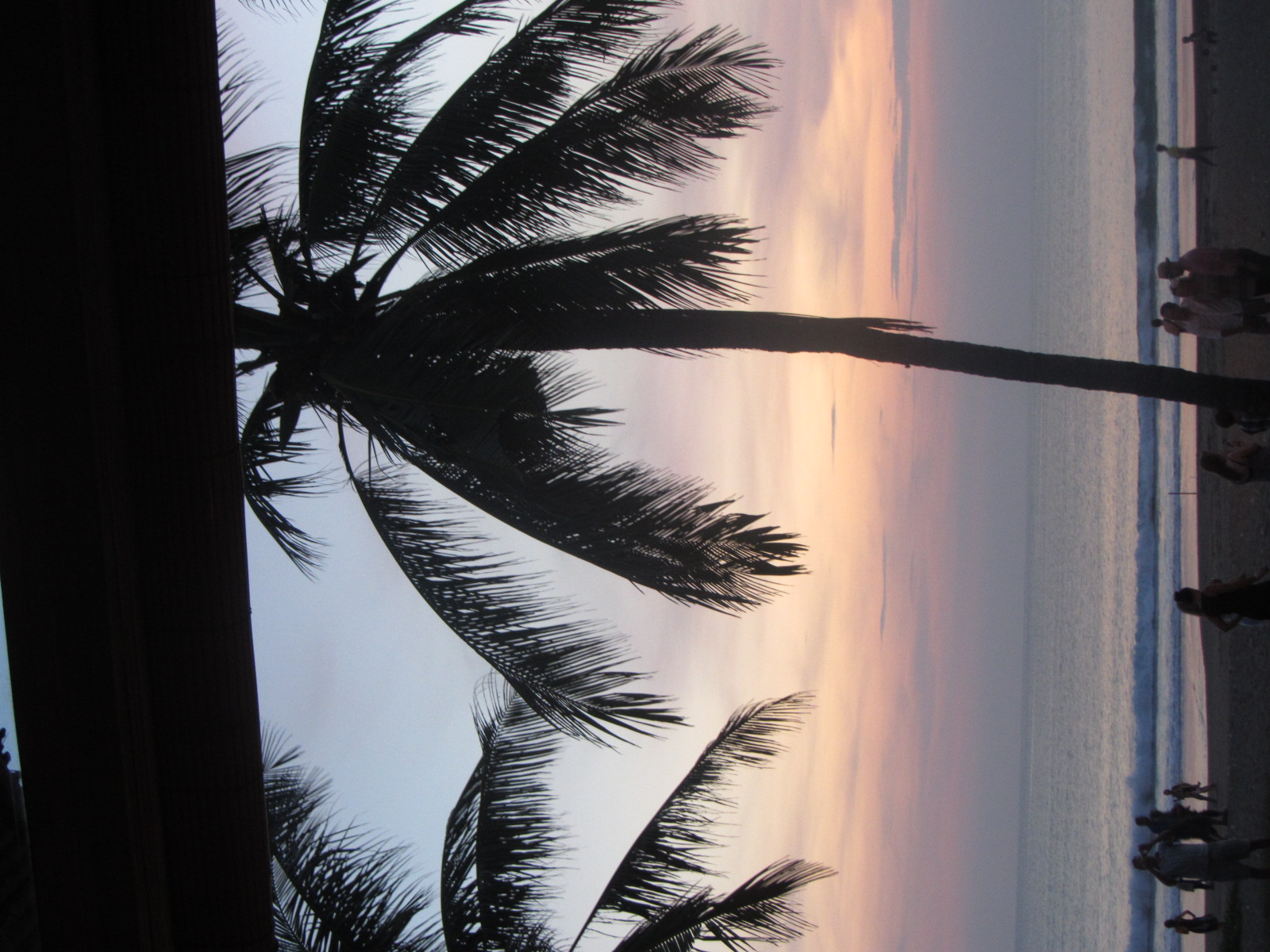 The view of the sun setting on Seminyak Beach from La Lucciola