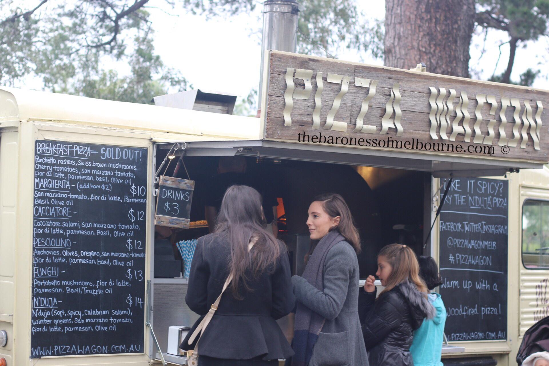 The Pizza Wagon at Hank Marvin Market