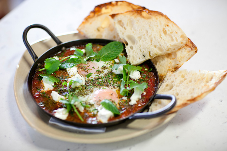 The shakshuka baked eggs from The Counter in Hawthorn