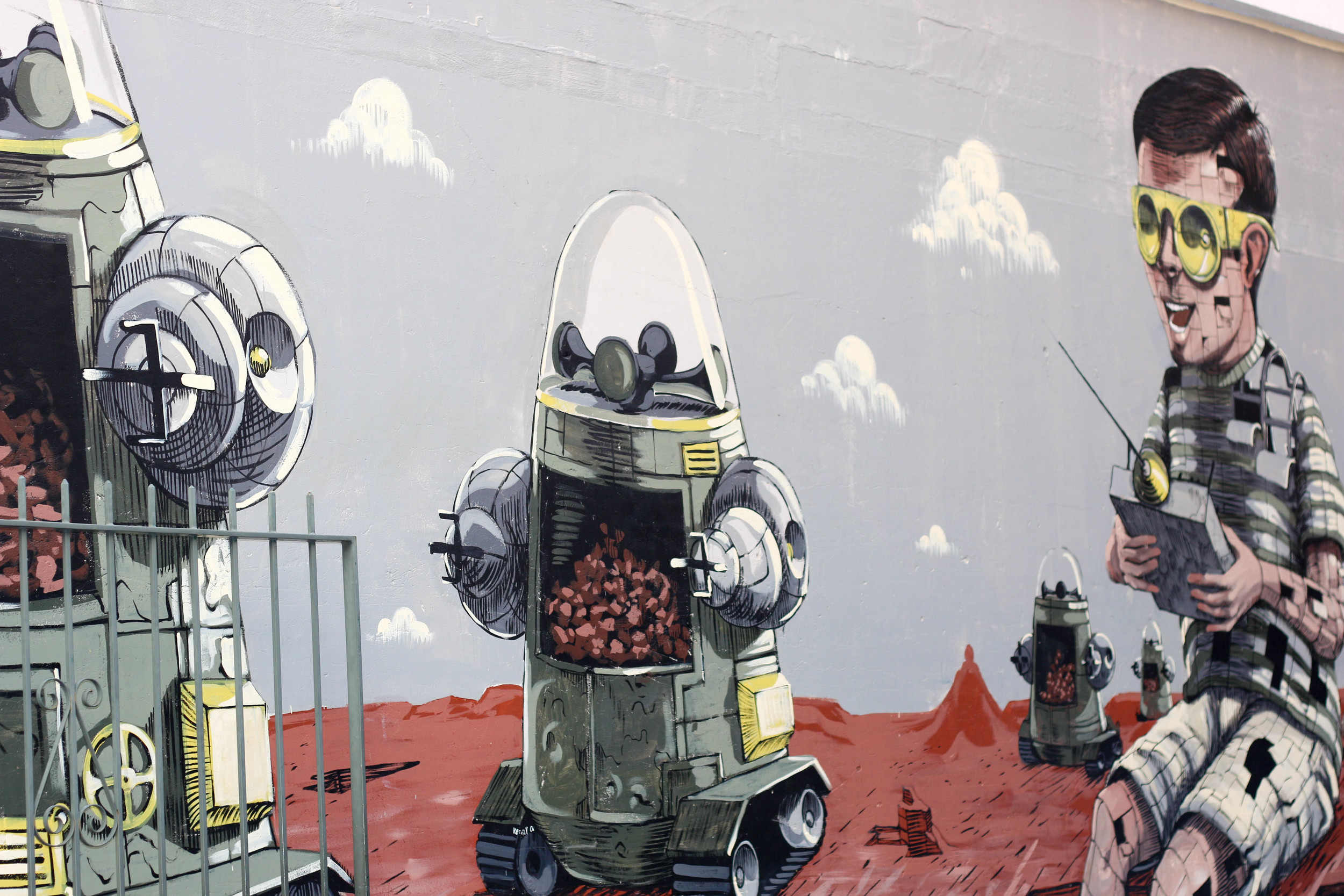 An example of some of the great street art in Wolf Lane, Perth