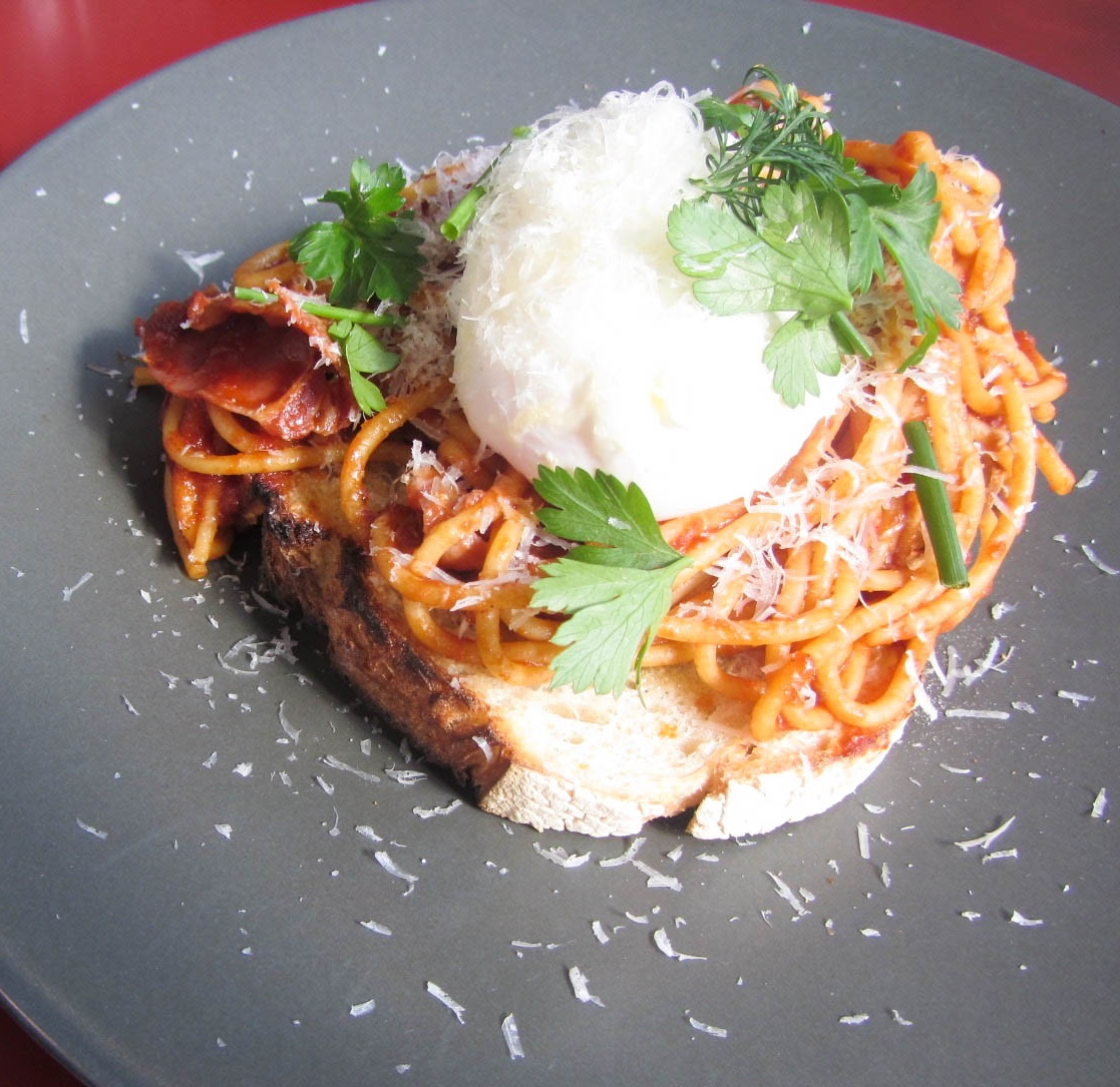 spag on toast at second home