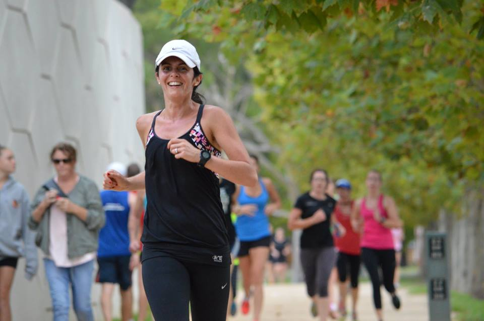 Heading to the finish line at Albert Melbourne parkrun