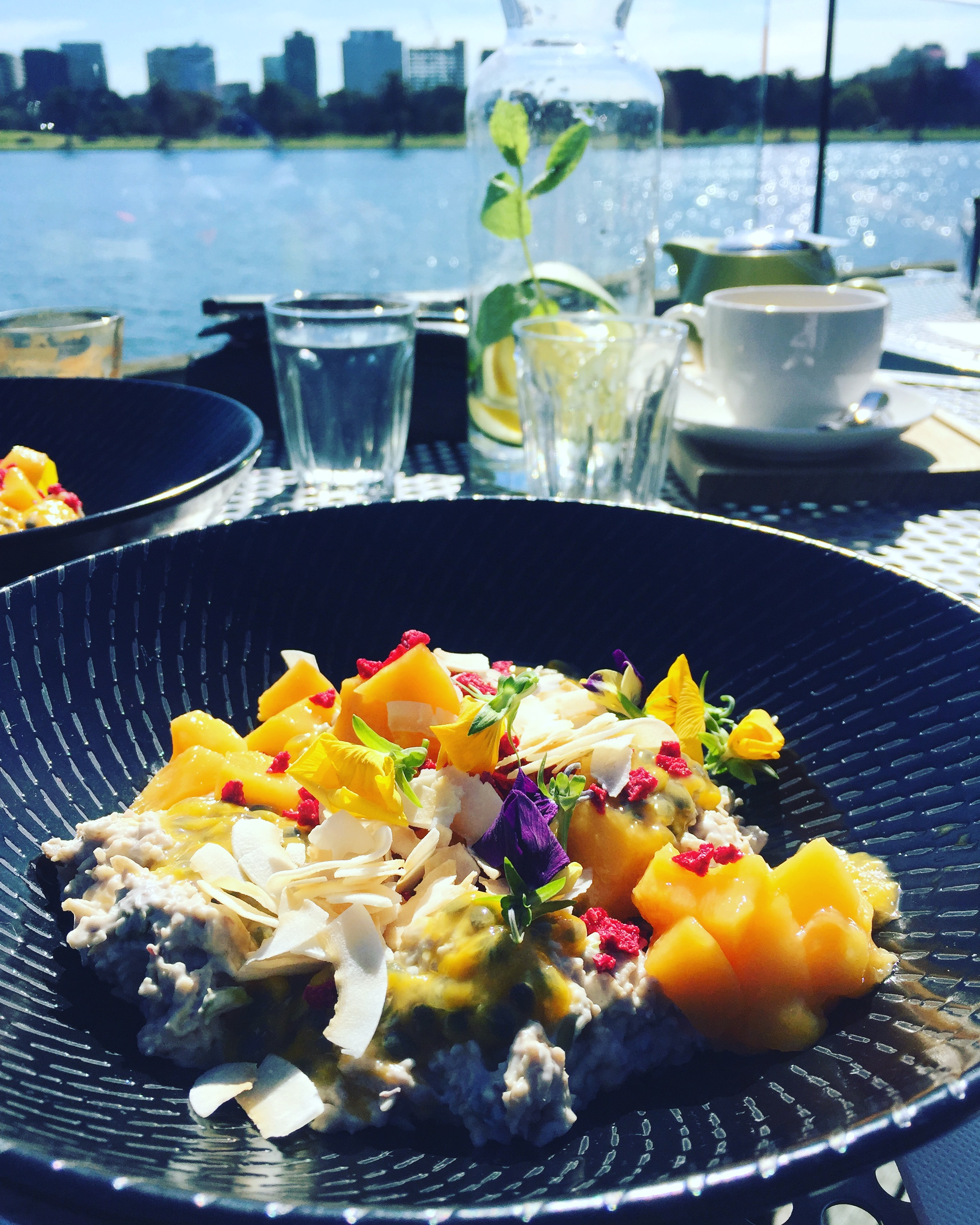 The closest cafe to Albert Melbourne parkrun happens to be right on the lake at The Carousel, this is their summer Bircher