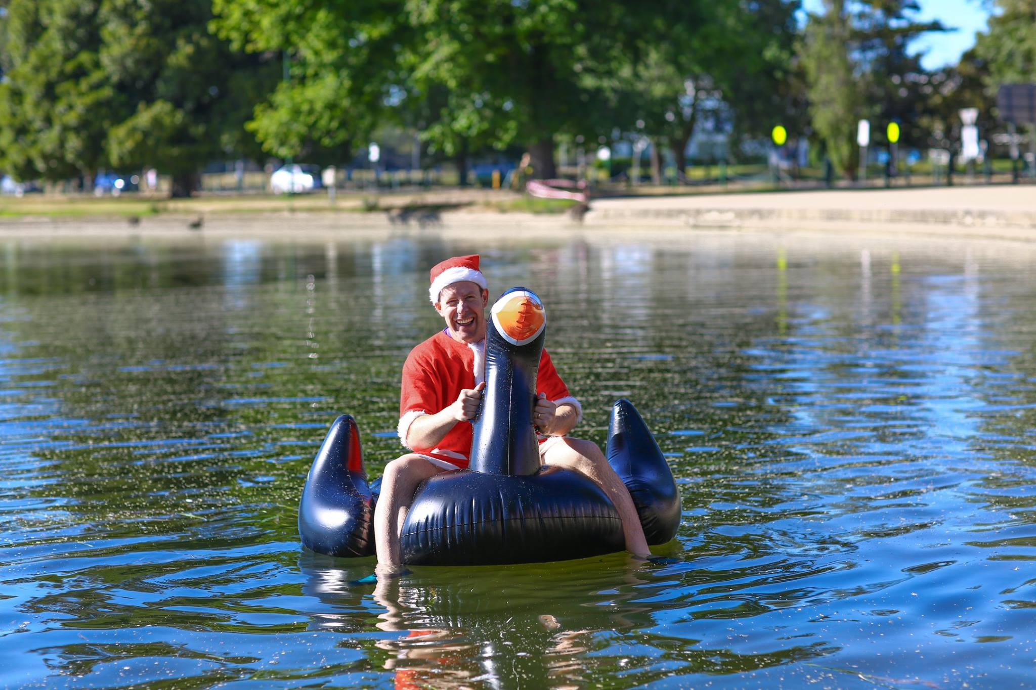 Even Santa finds his way to parkrun