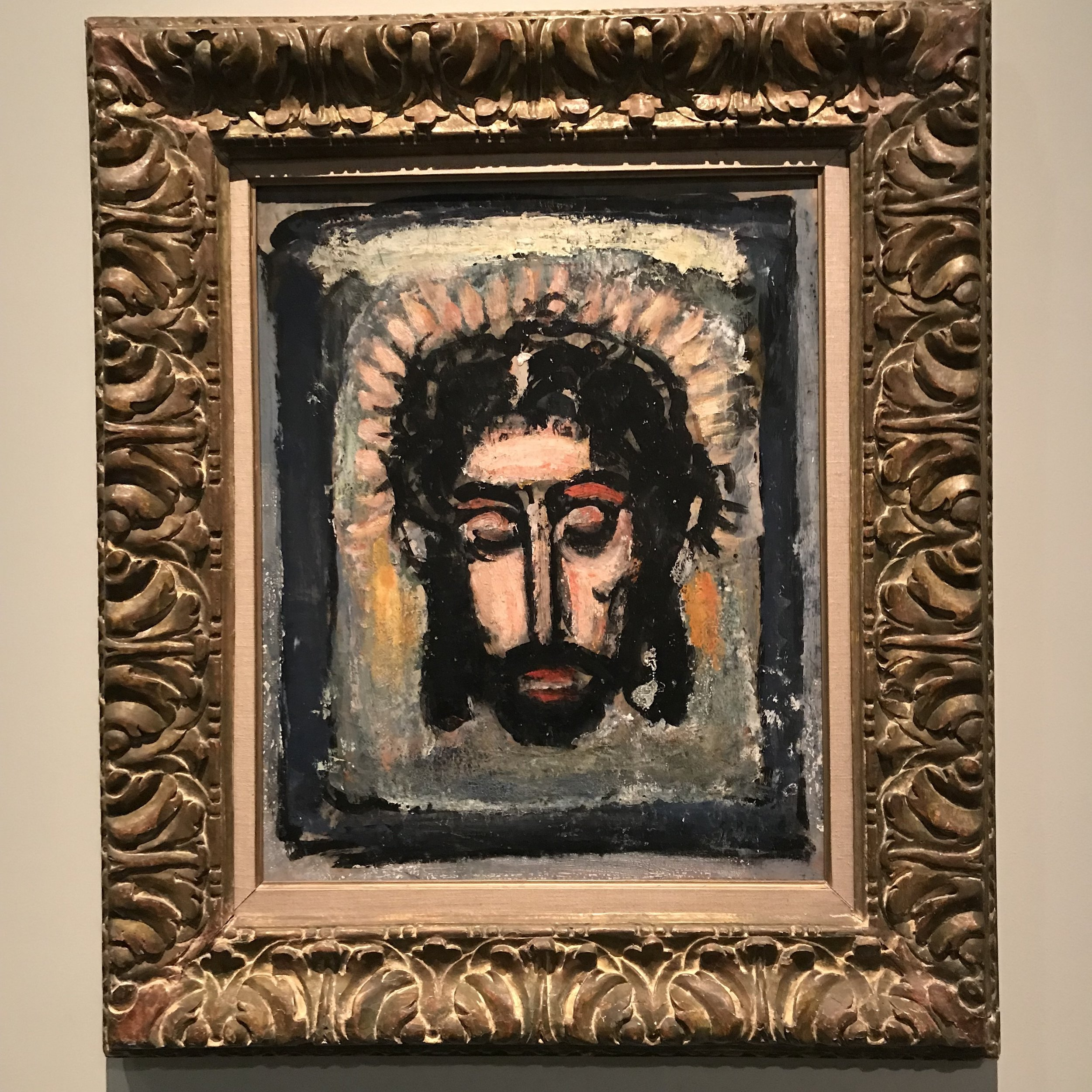 Head of Christ (1932 -38 - oil on panel) by George Rouault (1871 - 1958) of France