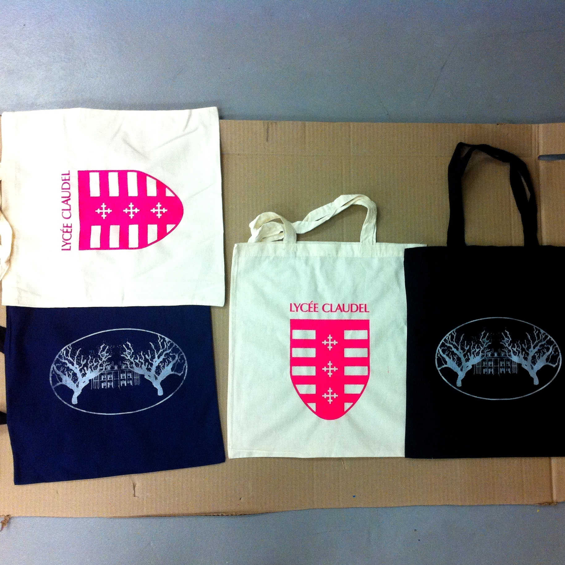 School Swag / School Pride - Students and teachers will learn to print on tote bags and t-shirts using pre-made screens with their logo/hashtag/school mascot. Perfect for special events and fundraisers.