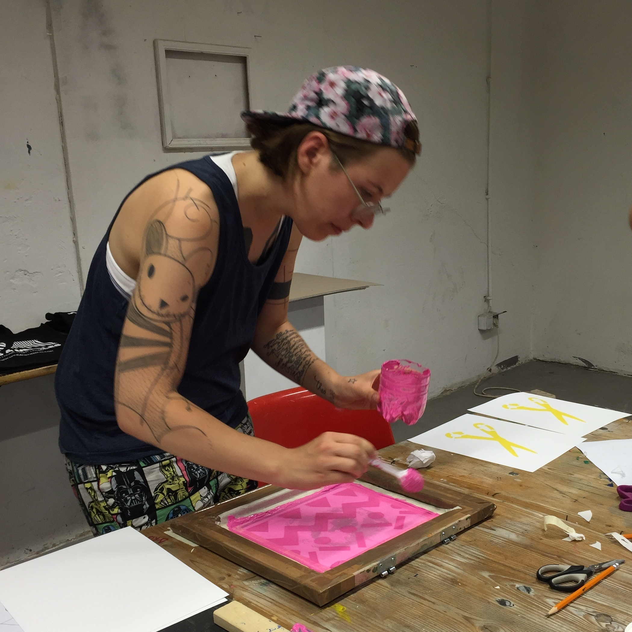 Silkscreening for Sanity - Explore the relaxing and inspiring qualities of paper stencil silkscreening. Pull numerous prints on surfaces from paper to fabric. Play with positive and negative space, bright colors and bold designs.