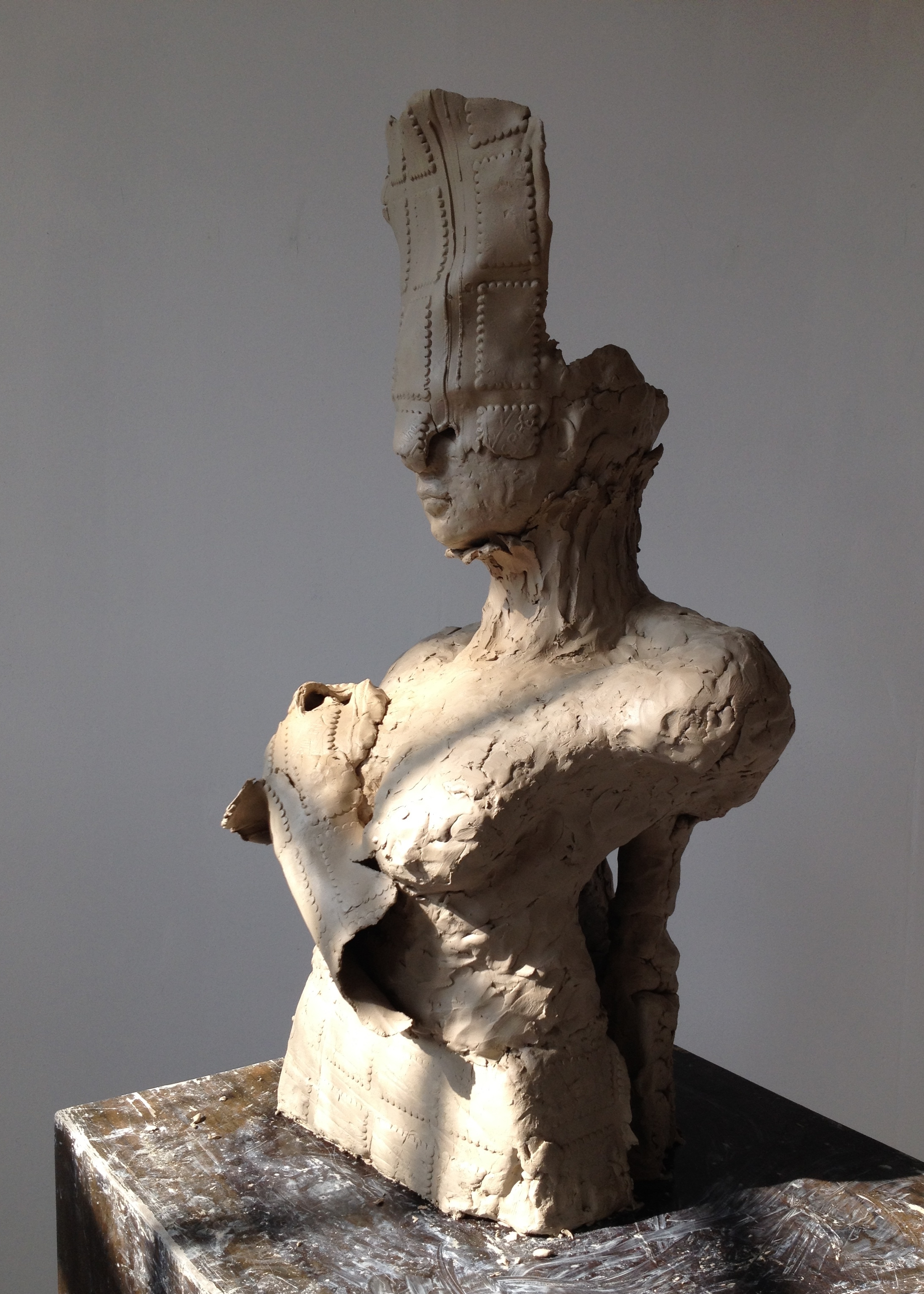 Annabelle sculptures new work `beyond my promise` clay model