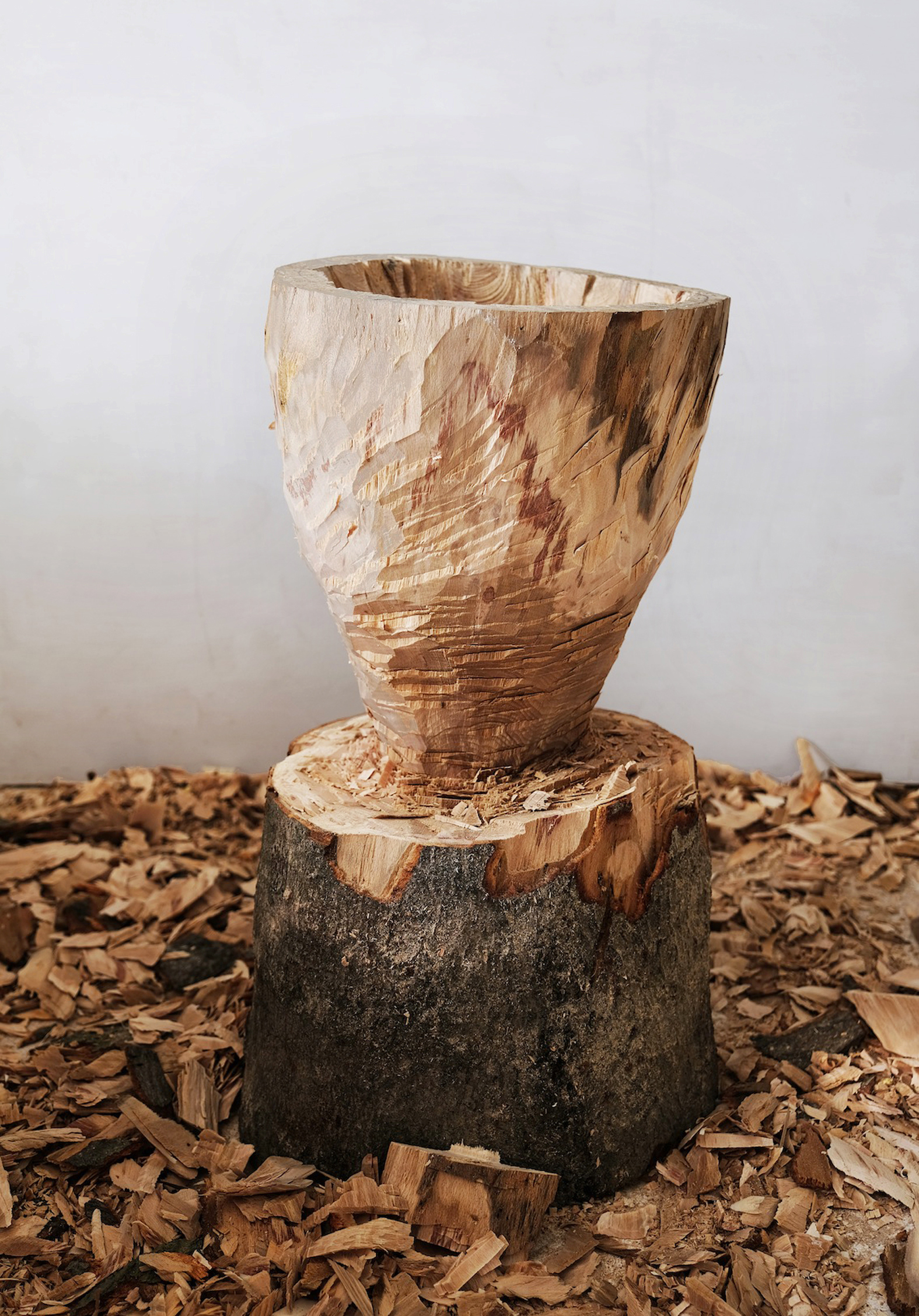 Axed Vessel  | beech wood, 2017