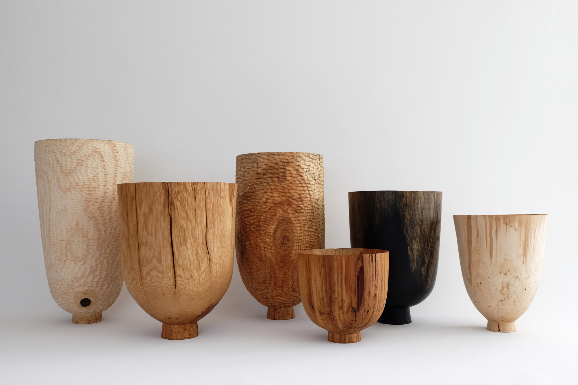 Grouped Vessels  | mixed british hardwoods, 2016