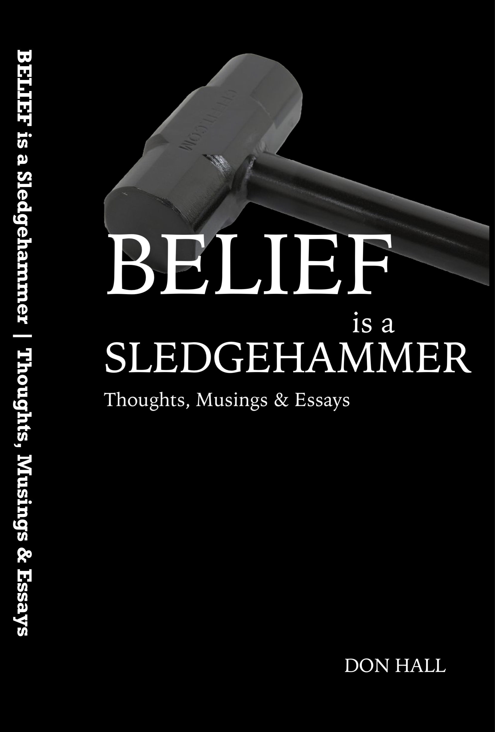 "Belief is a Sledgehammer - I started blogging in 2005. I decided that one ""column"" I could write quickly and consistently was to catalog the many things I believed on a routine basis. I've been writing ""I Believe…"" every week for over 12 years at this point. These tropes cover art, theater, politics, love, and life in general. In addition to hundreds of beliefs are included essays on issues I deem essential.PURCHASE ON AMAZON"